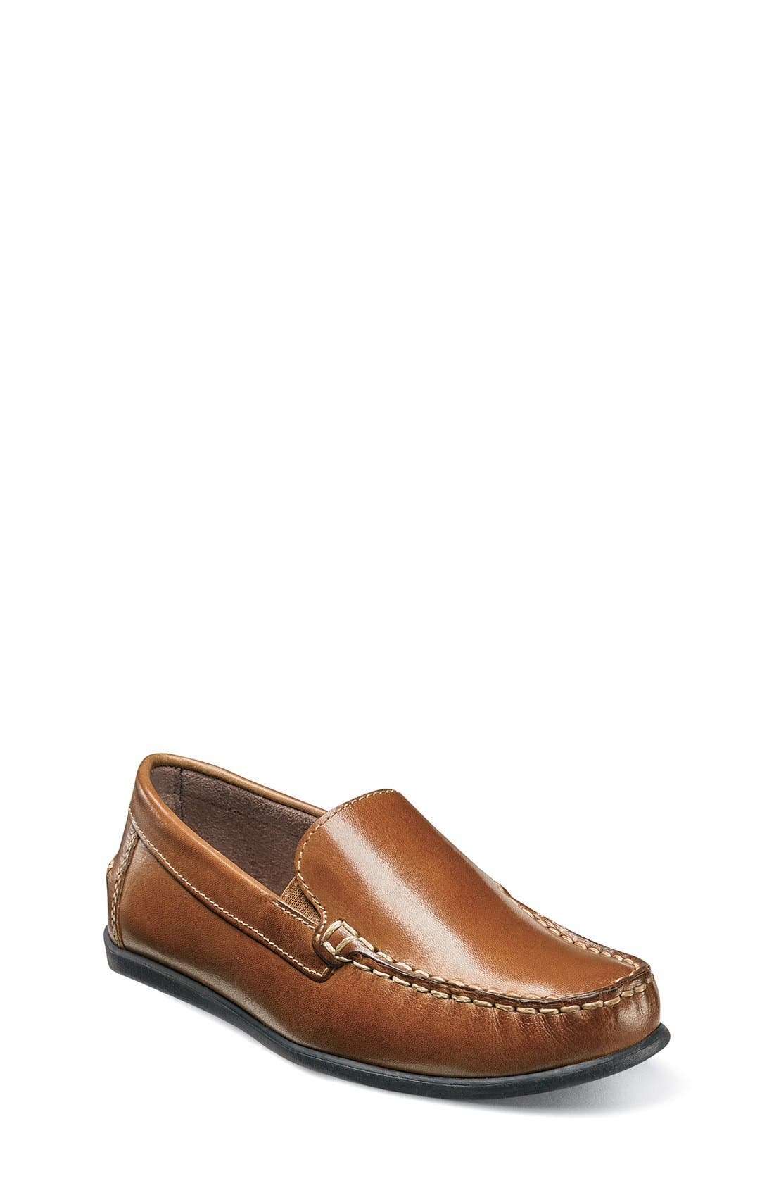 'Jasper - Venetian Jr.' Loafer,                             Main thumbnail 1, color,                             SADDLE TAN LEATHER
