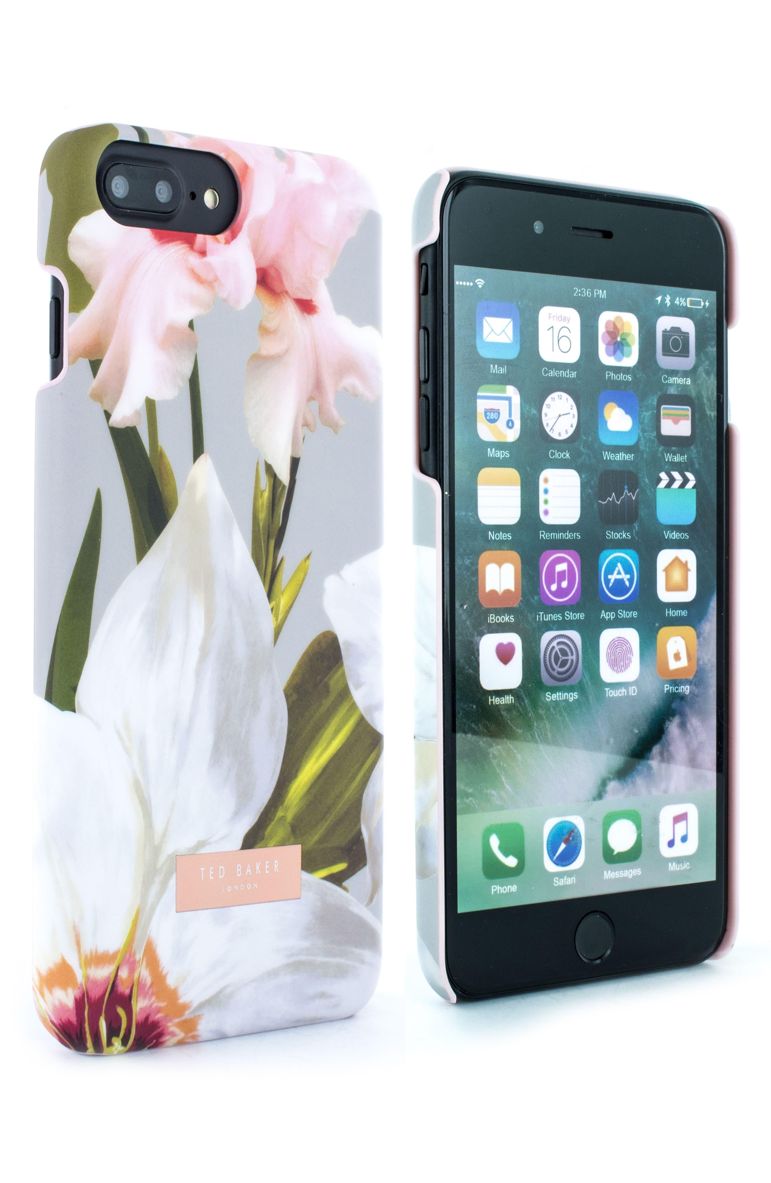 Auriole Chatsworth Bloom iPhone 7/8 Plus Case,                             Alternate thumbnail 2, color,                             GREY