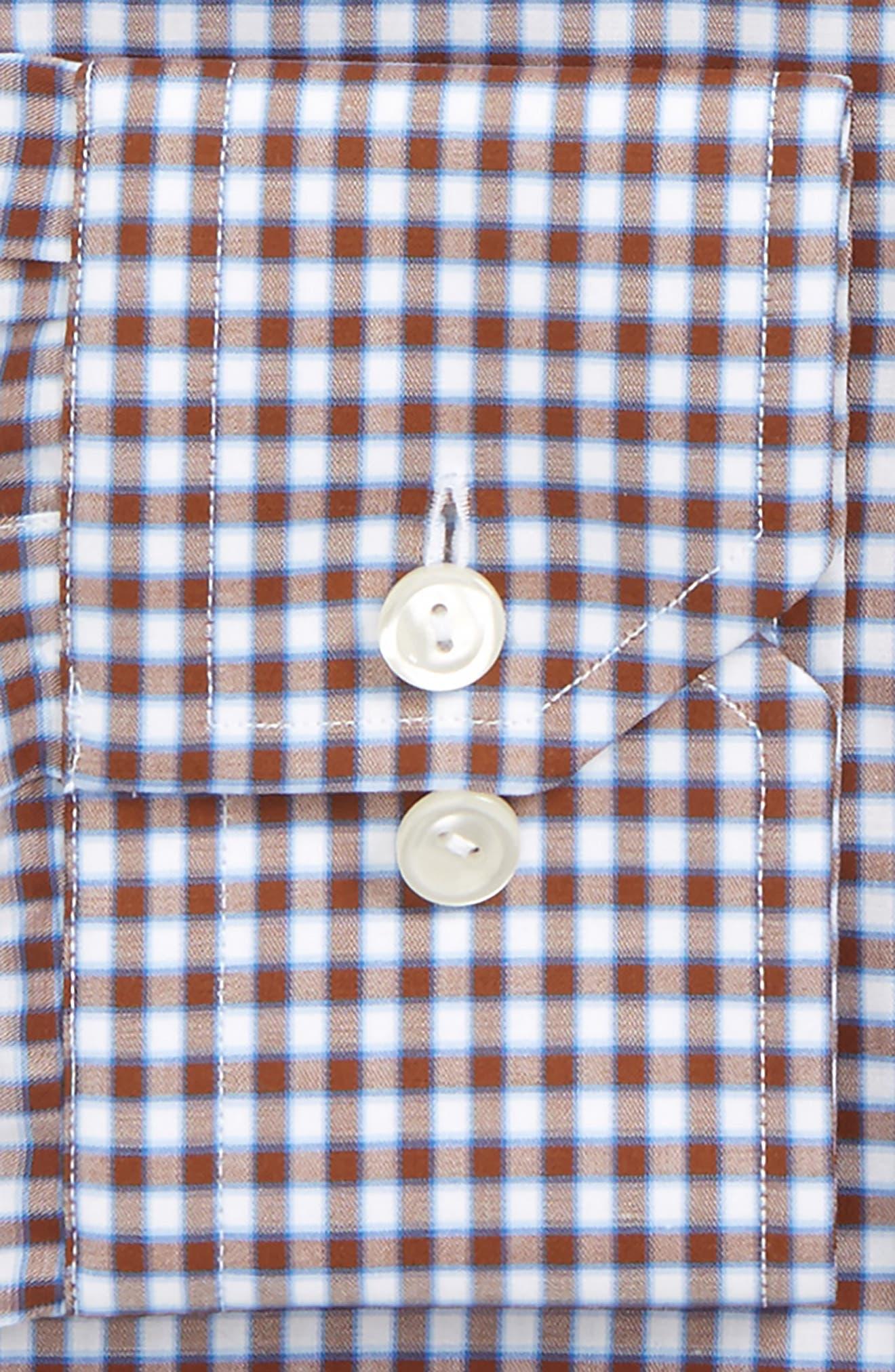 Contemporary Fit Check Dress Shirt,                             Alternate thumbnail 3, color,