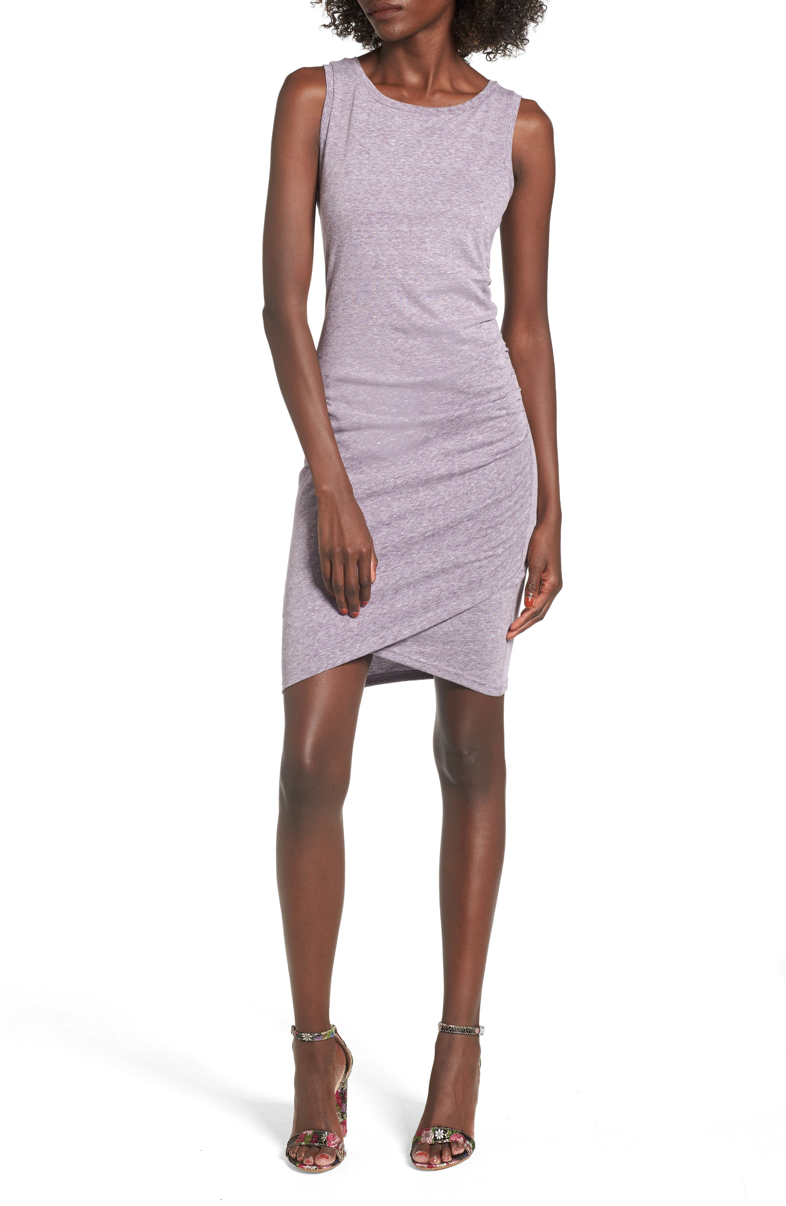 Ruched Body-Con Tank Dress,                             Main thumbnail 9, color,