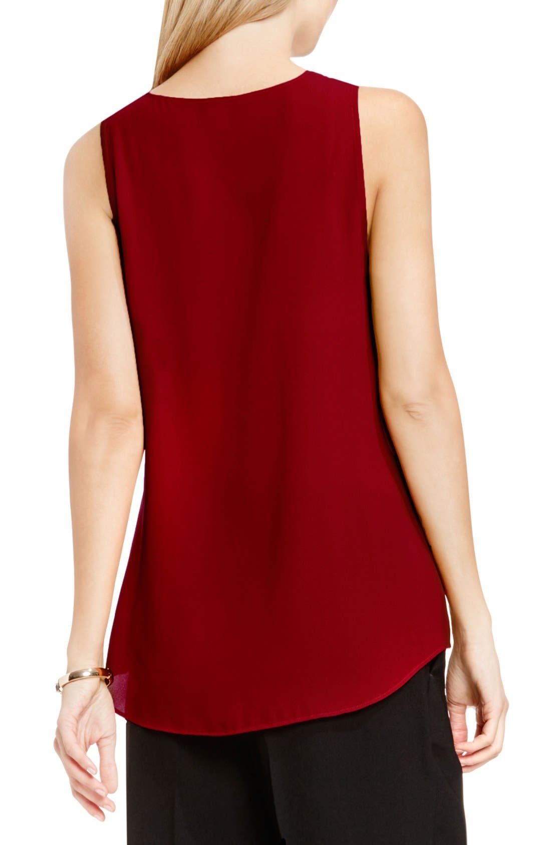 Drape Front V-Neck Sleeveless Blouse,                             Alternate thumbnail 51, color,