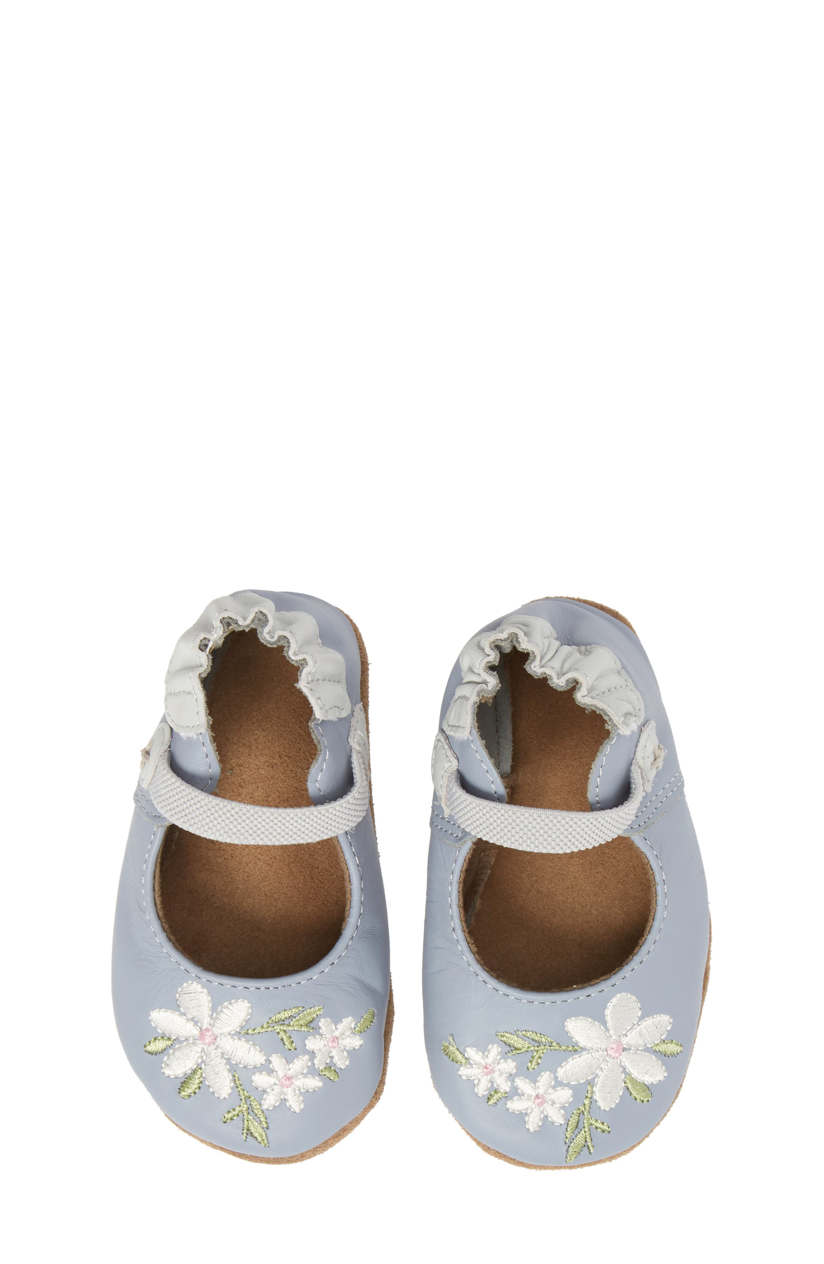 Pretty in Blue Mary Jane Crib Shoe,                             Alternate thumbnail 5, color,                             TWILIGHT BLUE