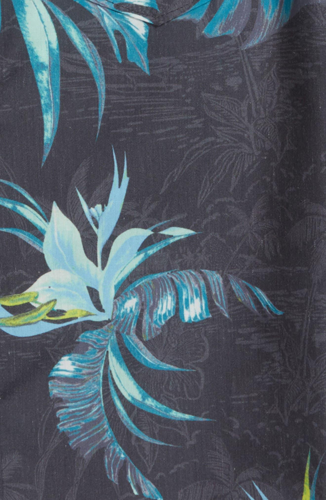 Islander Floral Print Woven Shirt,                             Alternate thumbnail 4, color,