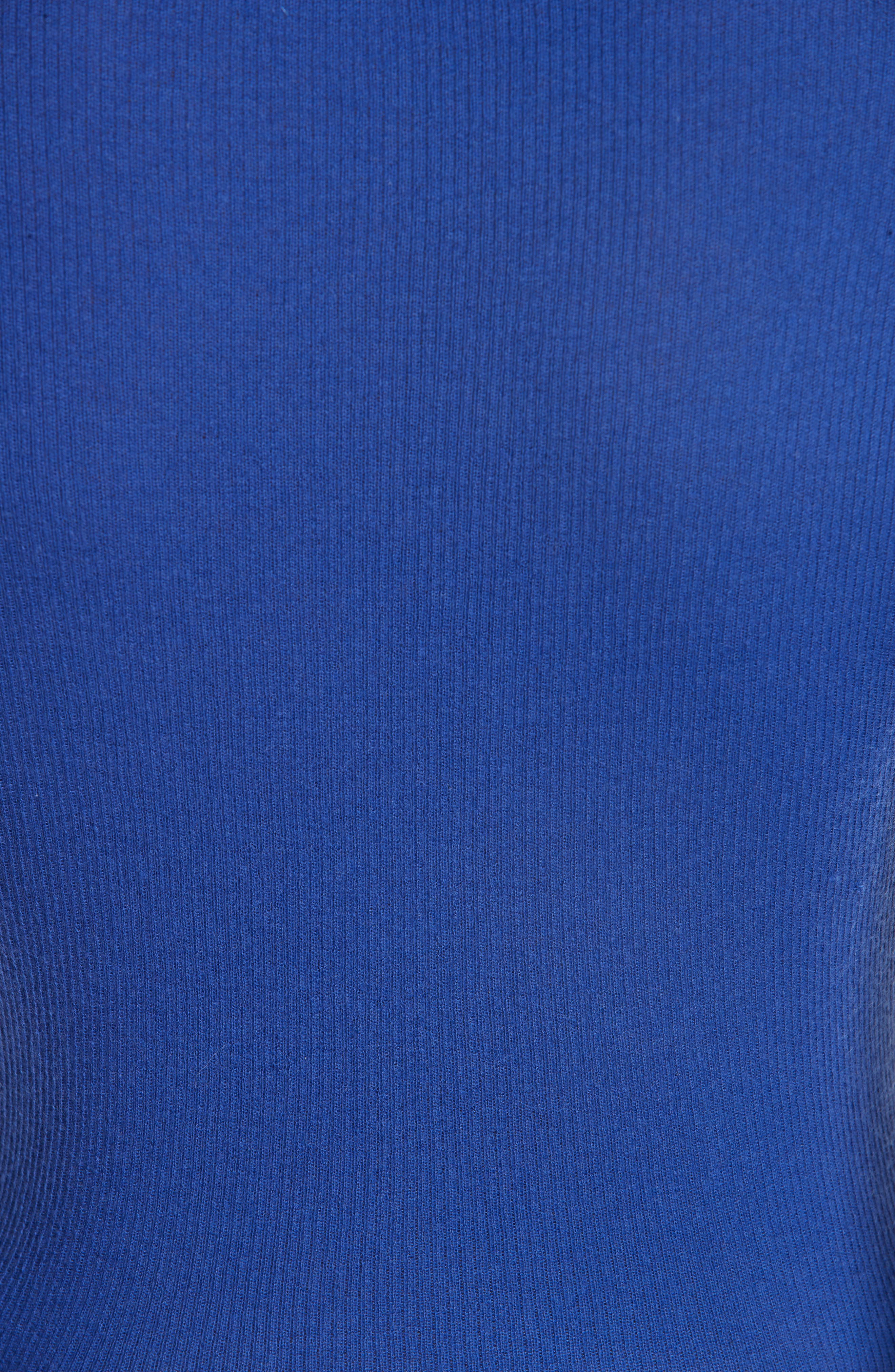 Ribbed Crewneck Sweater,                             Alternate thumbnail 6, color,                             LAPIS