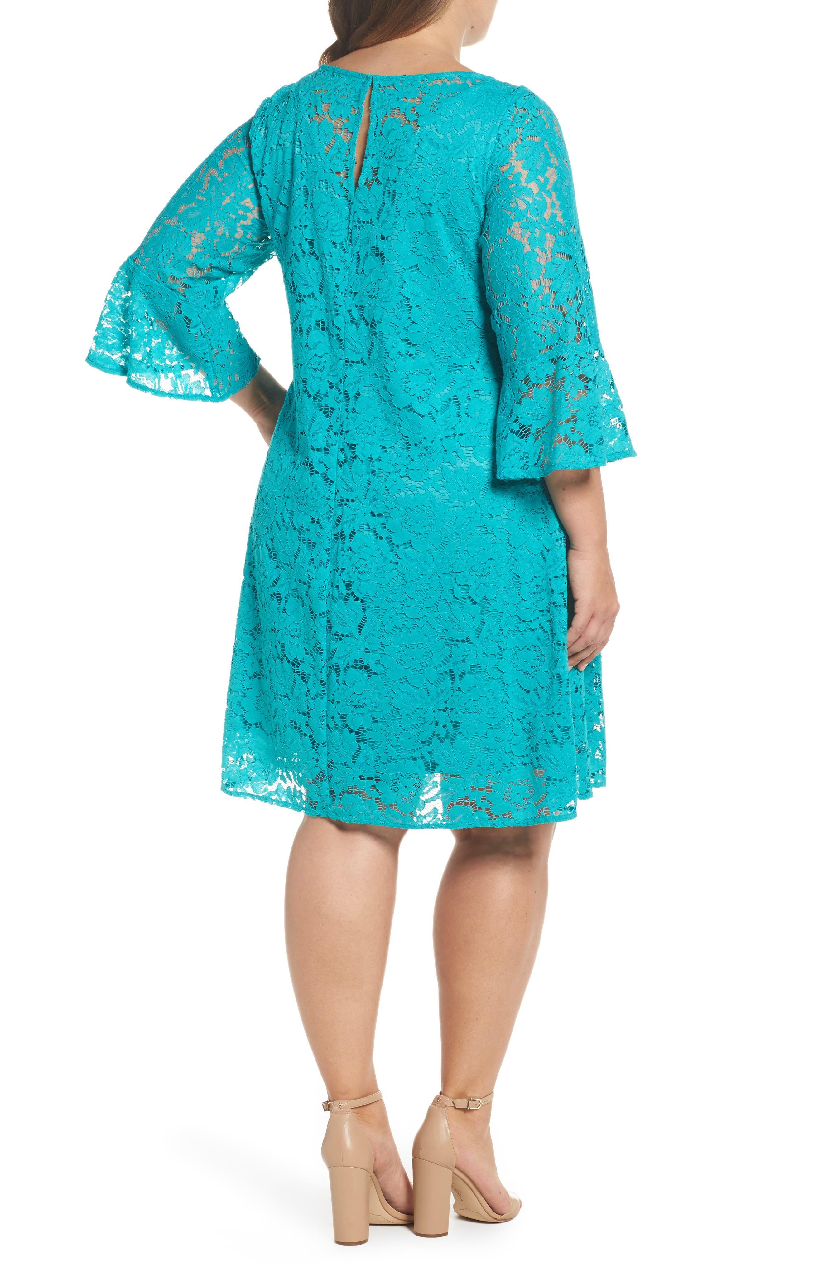 Lace A-Line Dress,                             Alternate thumbnail 4, color,