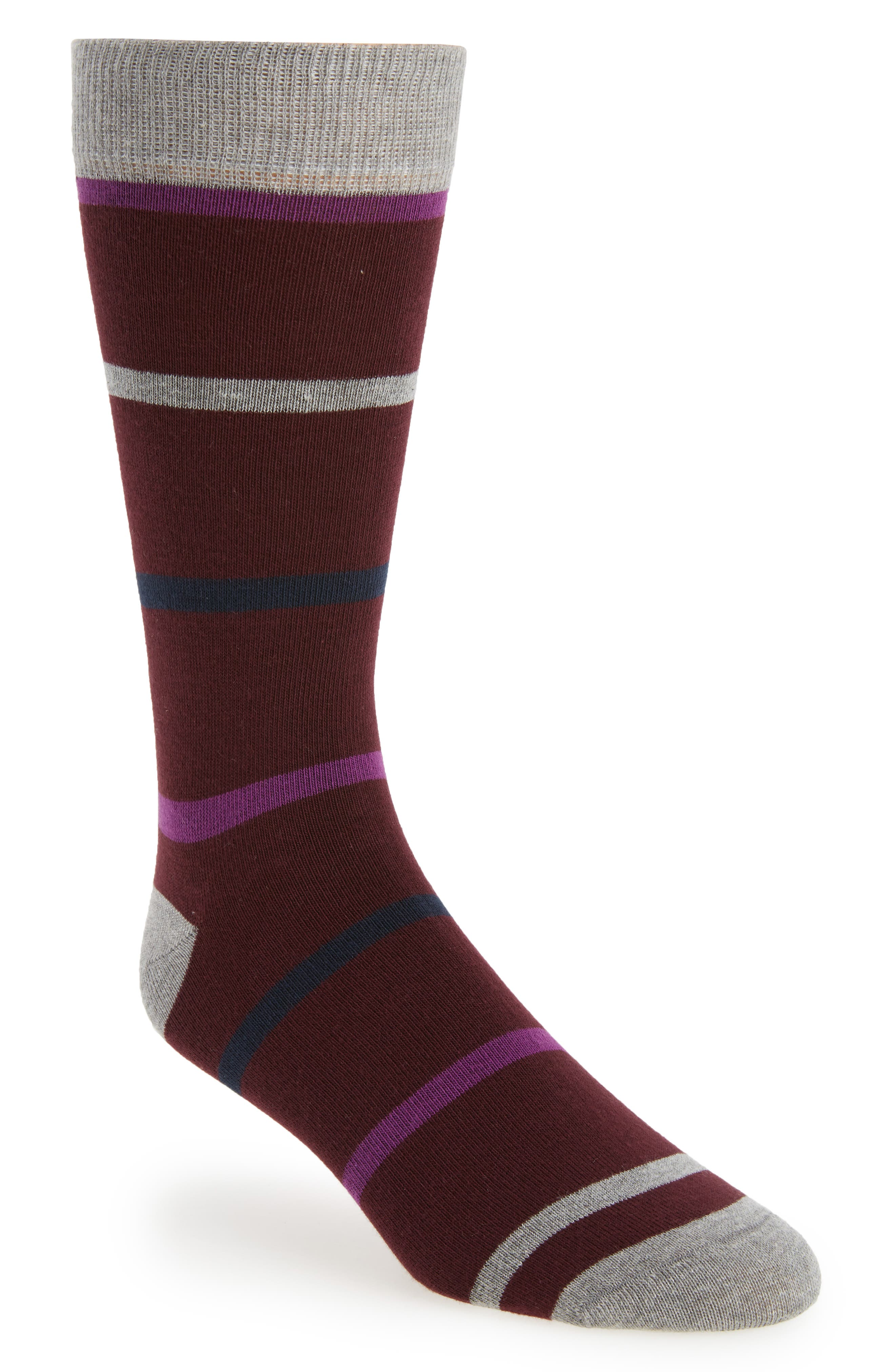 Stripe Crew Socks,                             Main thumbnail 2, color,