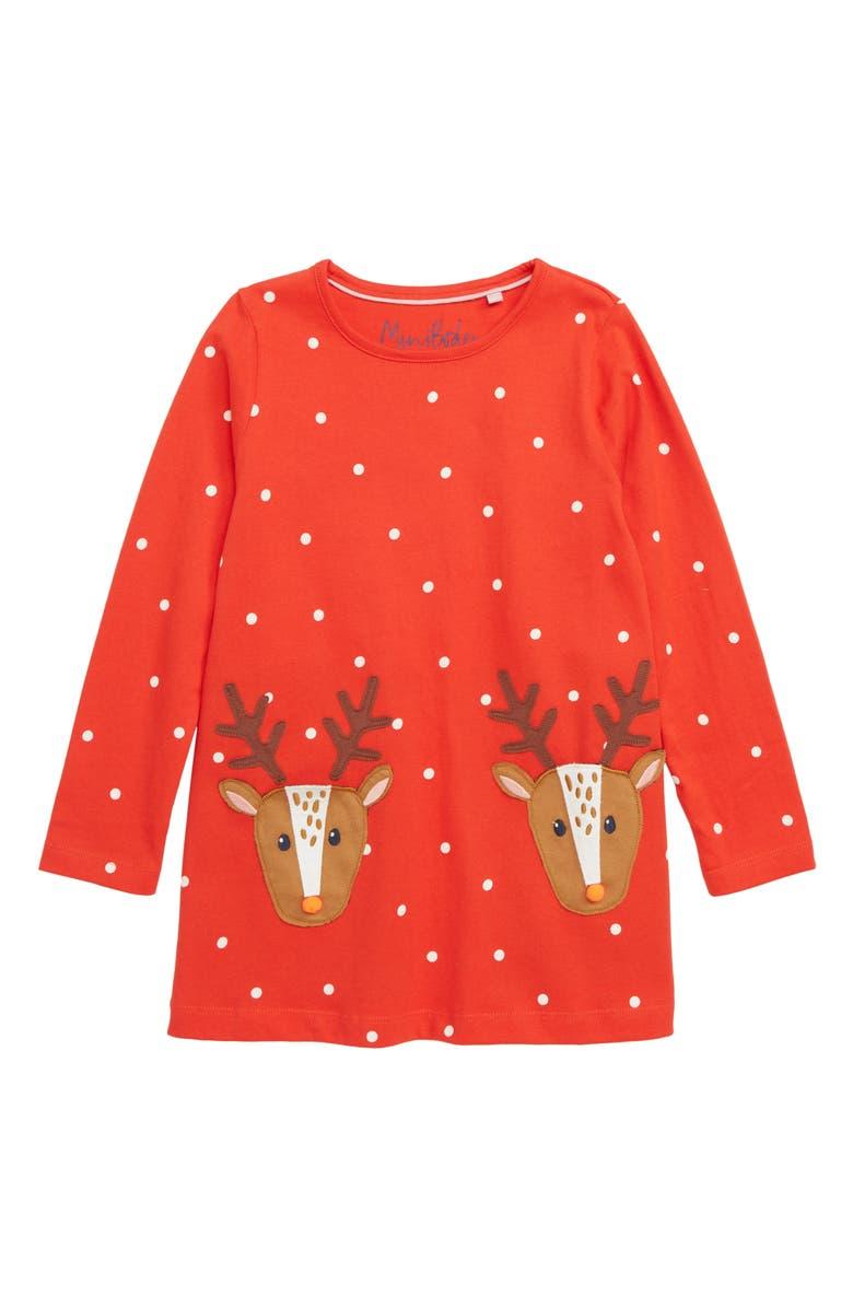 155b99c25 Mini Boden Festive Appliqué Tunic (Toddler Girls