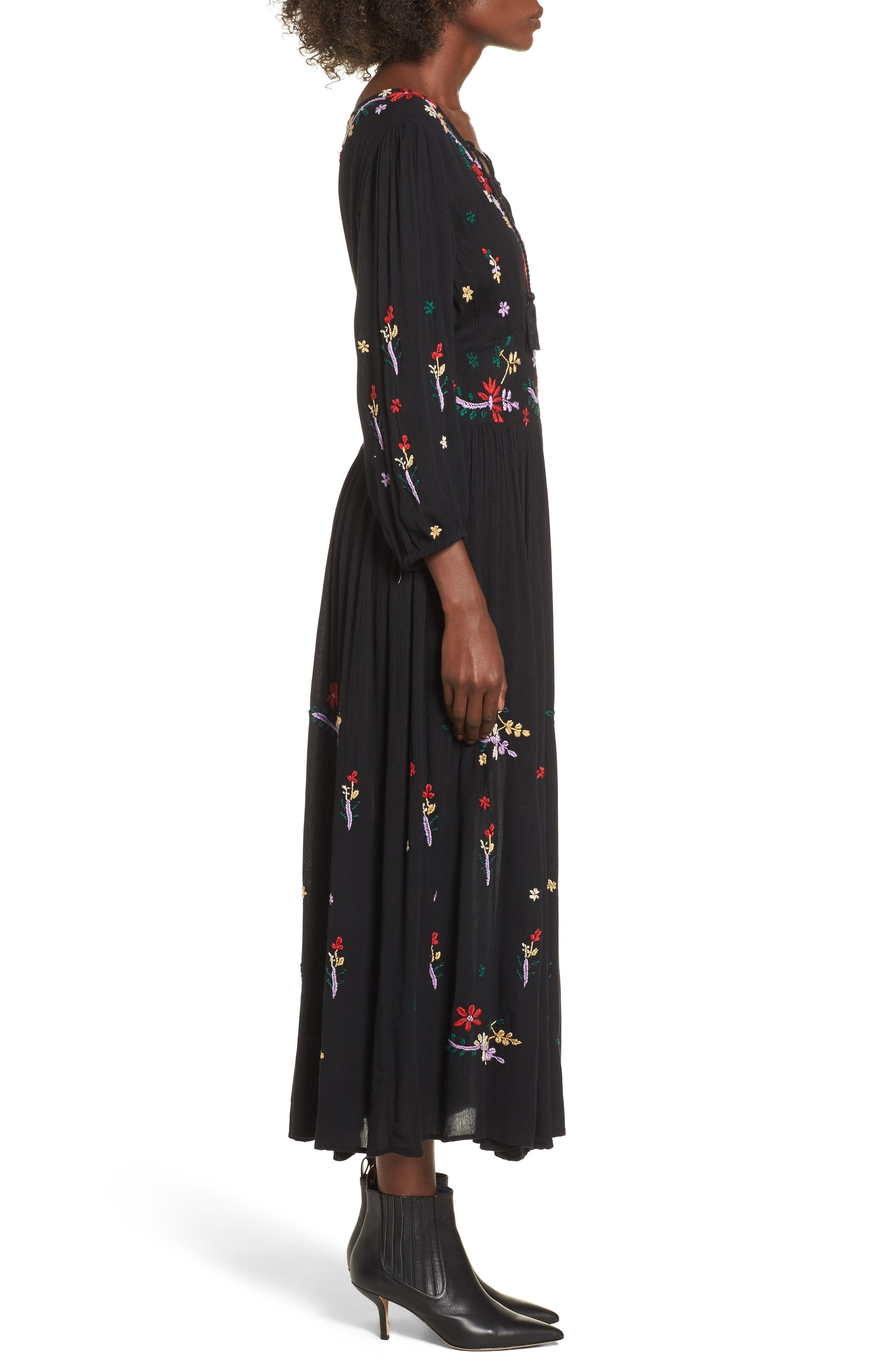 Sammy Embroidered Dress,                             Alternate thumbnail 3, color,                             001