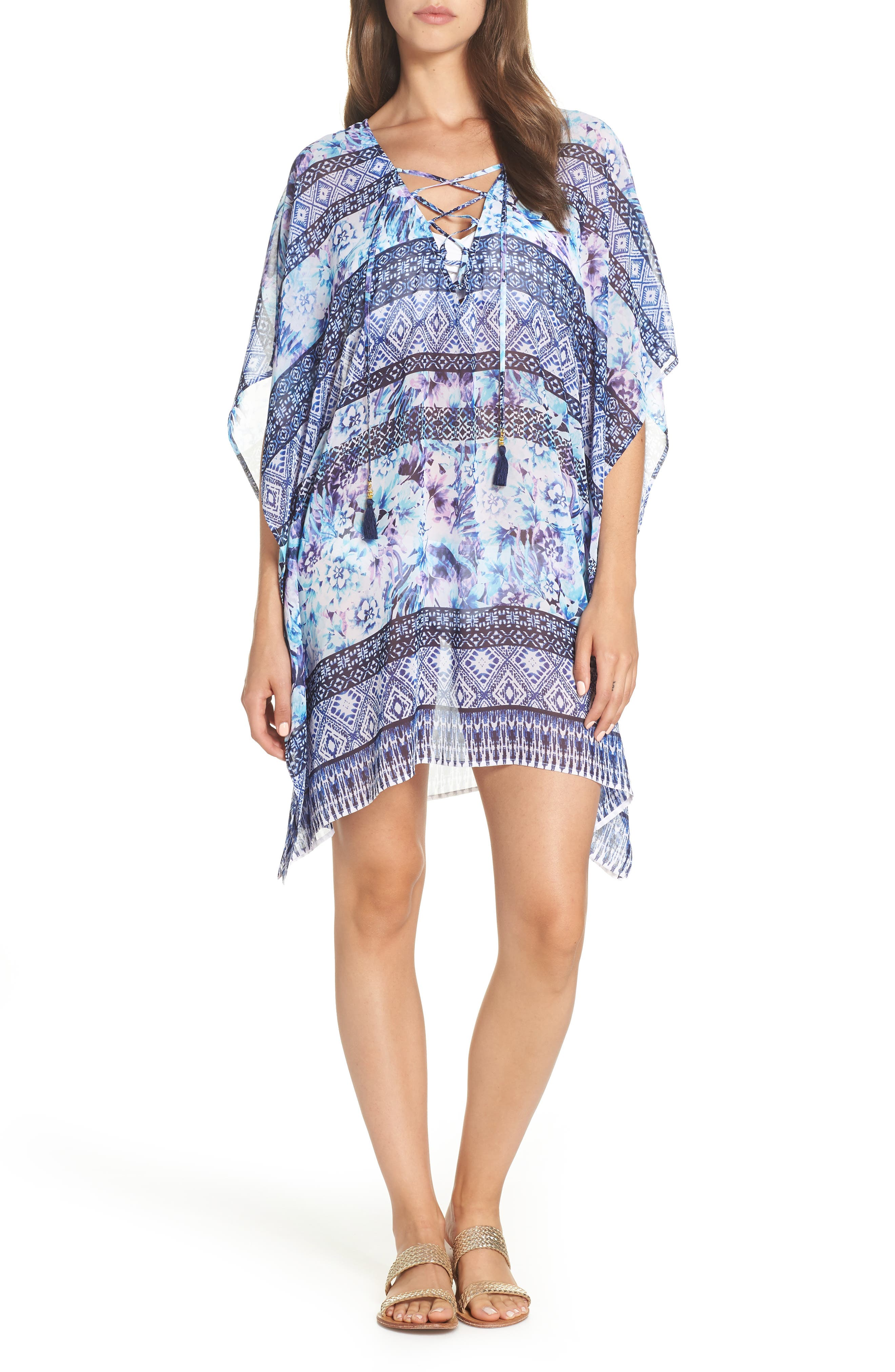 Tommy Bahama Aqua Petals Cover-Up Tunic