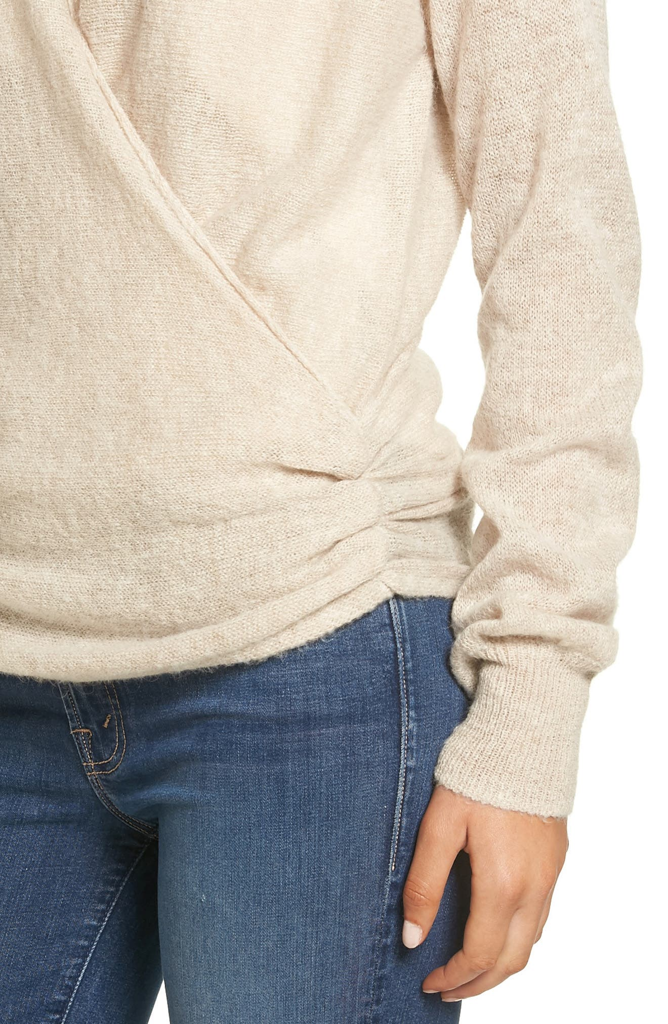 Wrap Front Sweater,                             Alternate thumbnail 4, color,                             235