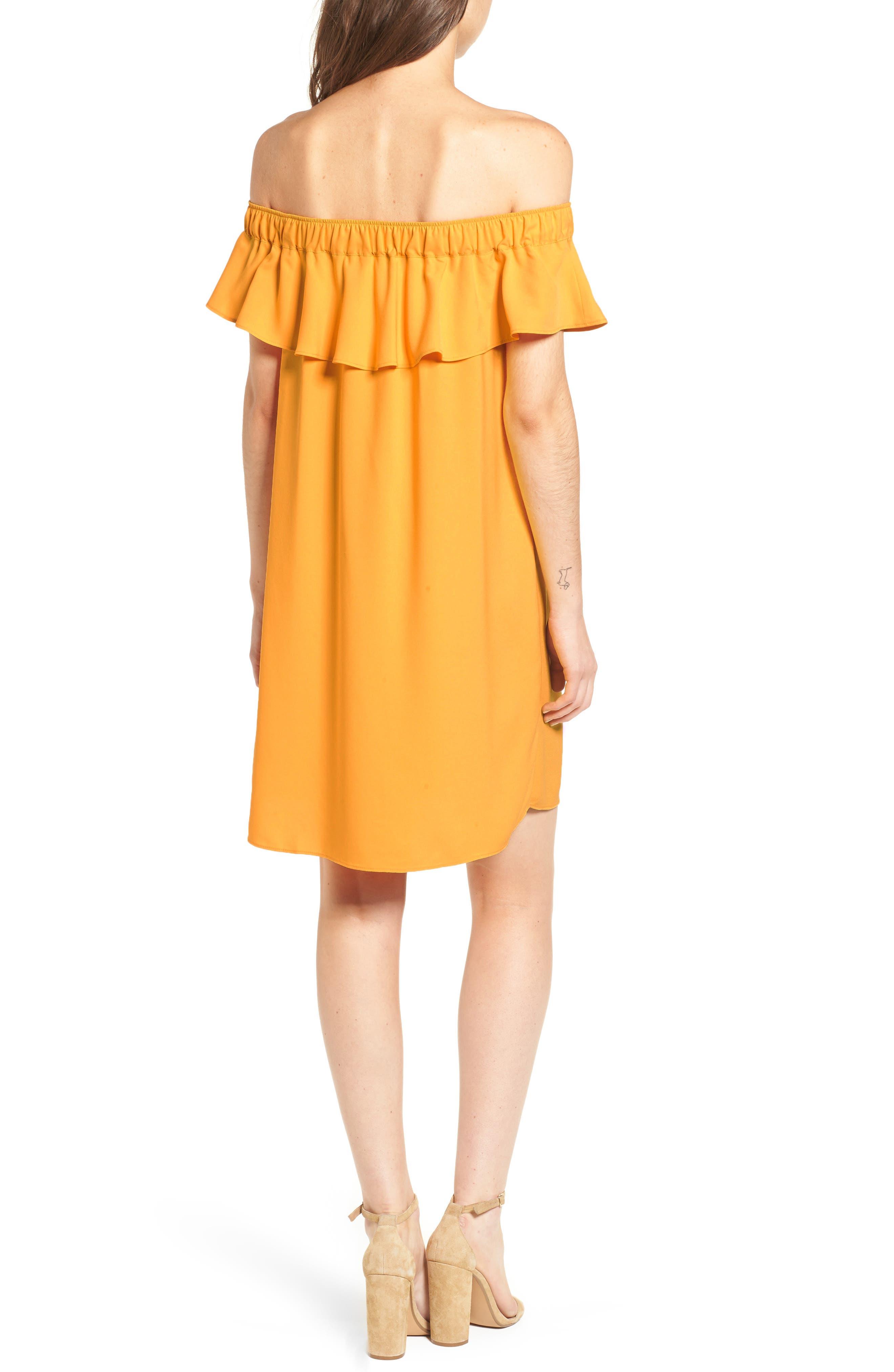 Off the Shoulder Crepe Dress,                             Alternate thumbnail 7, color,