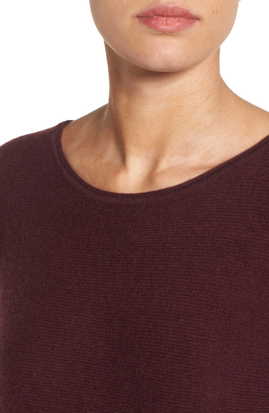 High/Low Wool & Cashmere Tunic Sweater,                             Alternate thumbnail 114, color,