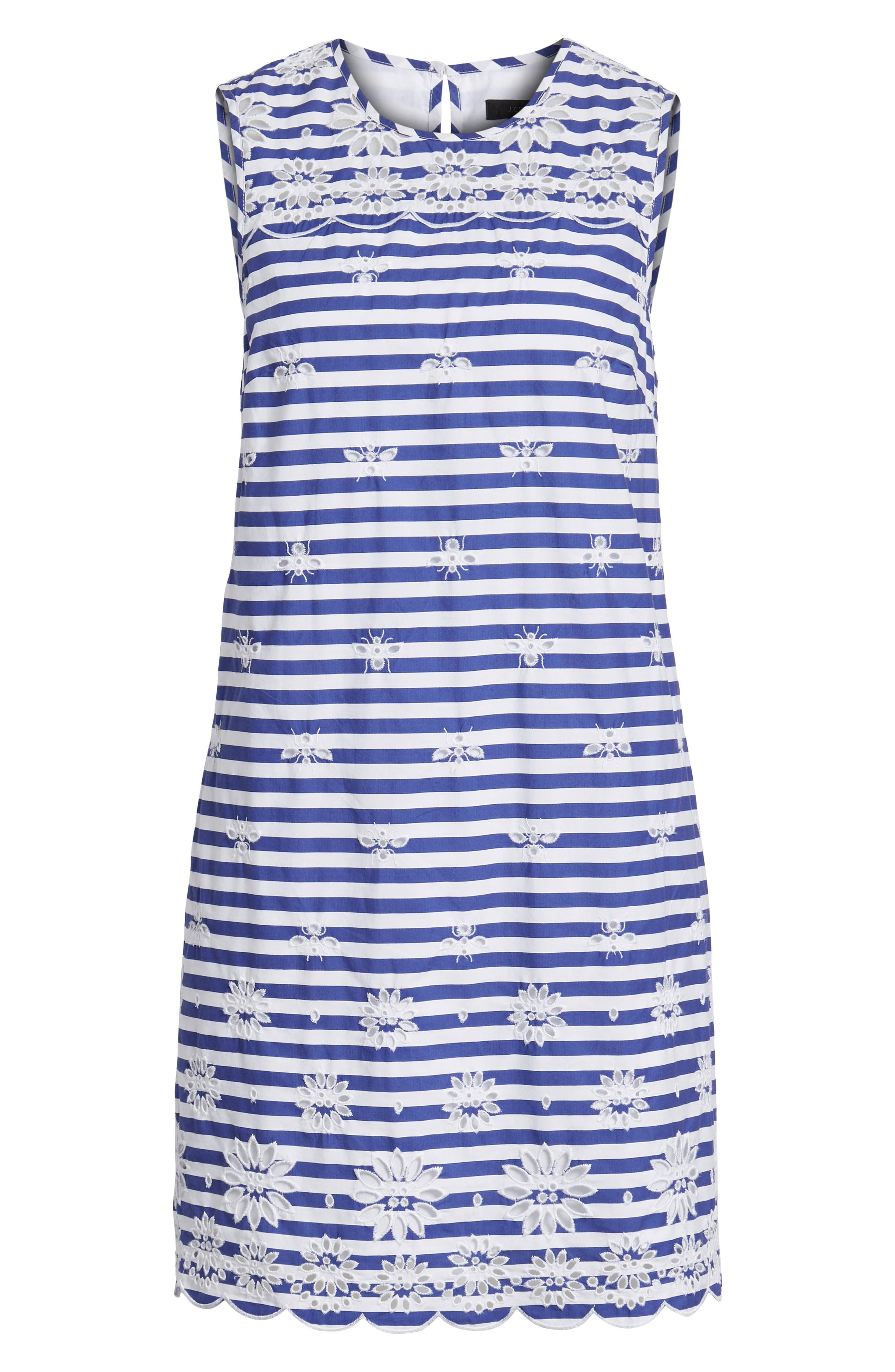 Dante Embroidered Stripe Dress,                             Alternate thumbnail 6, color,                             400