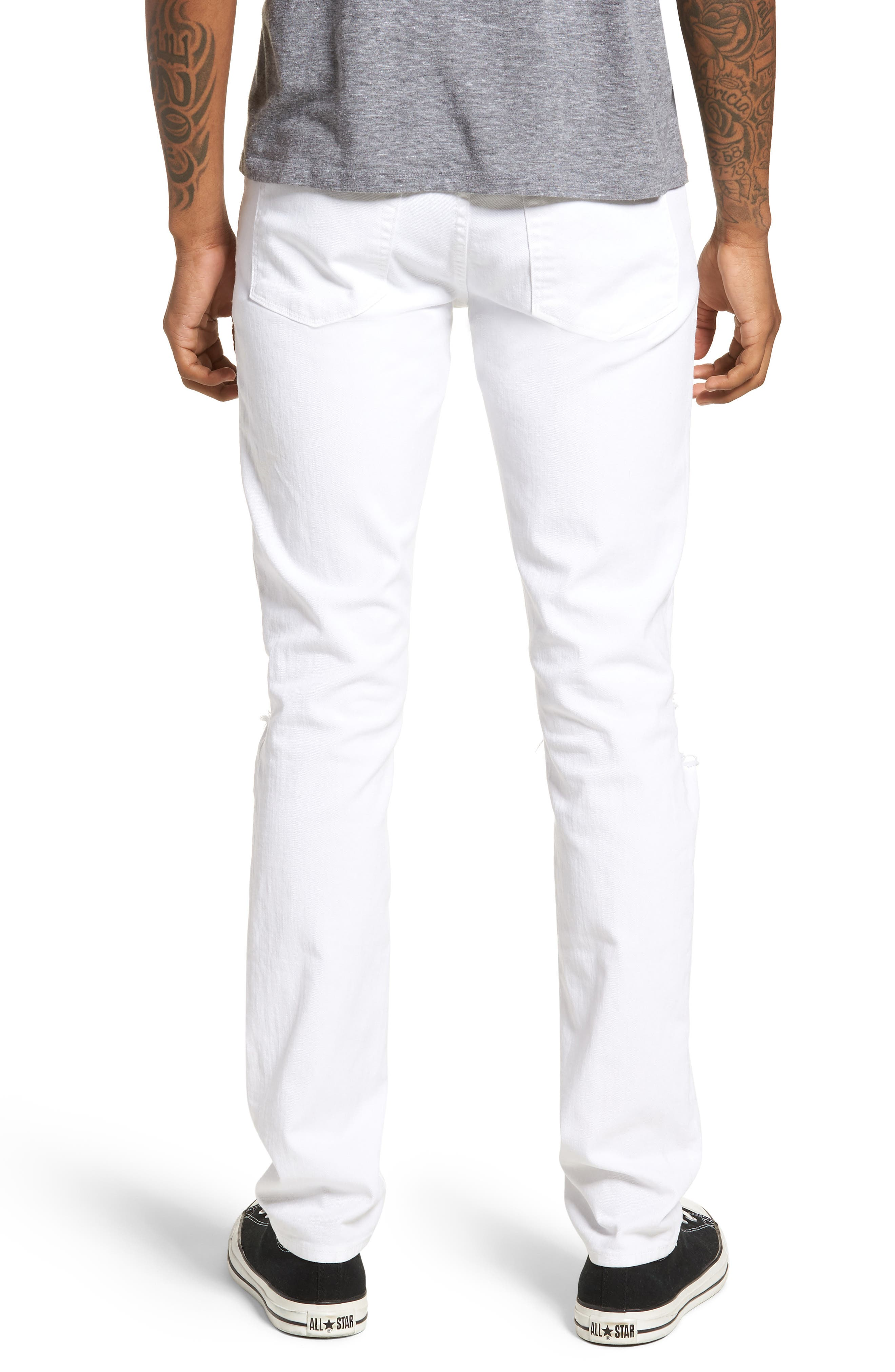 Mick Distressed Skinny Fit Jeans,                             Alternate thumbnail 2, color,                             WHITMAN OAK