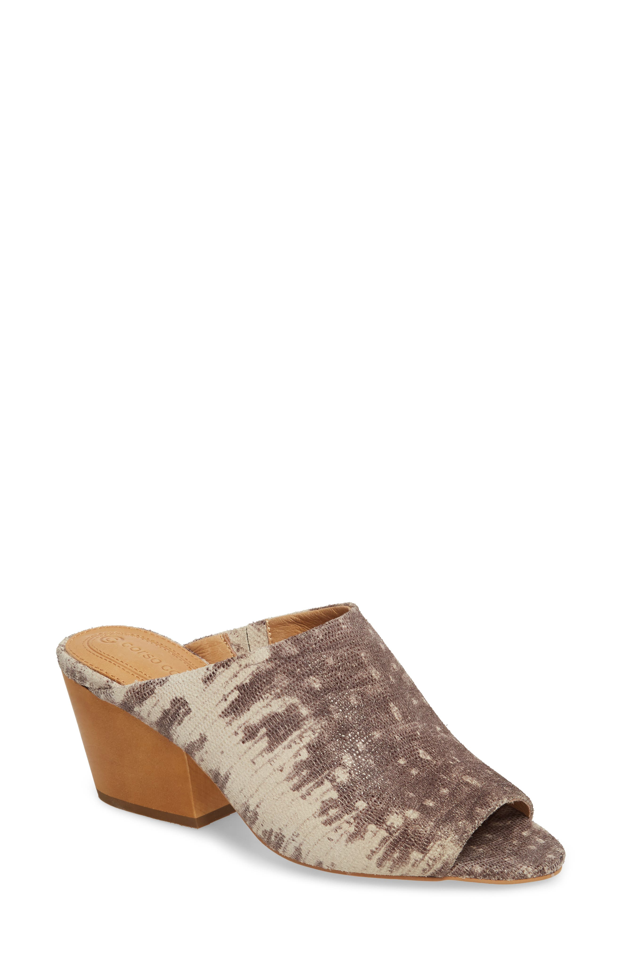 Intra Block Heel Mule,                             Main thumbnail 1, color,                             NATURAL LEATHER