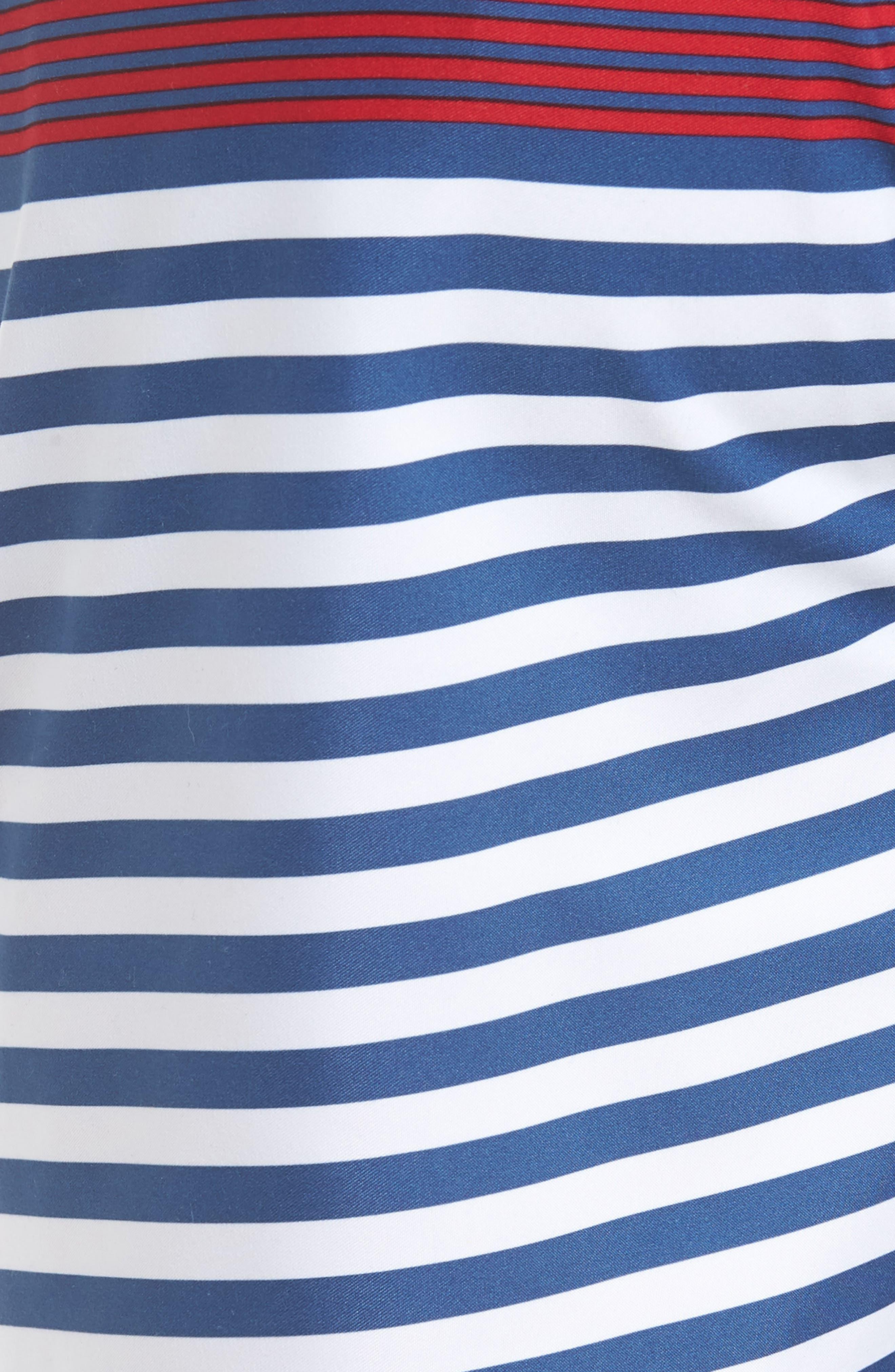 Chappy Summerall Stripe Swim Trunks,                             Alternate thumbnail 5, color,                             MOONSHINE