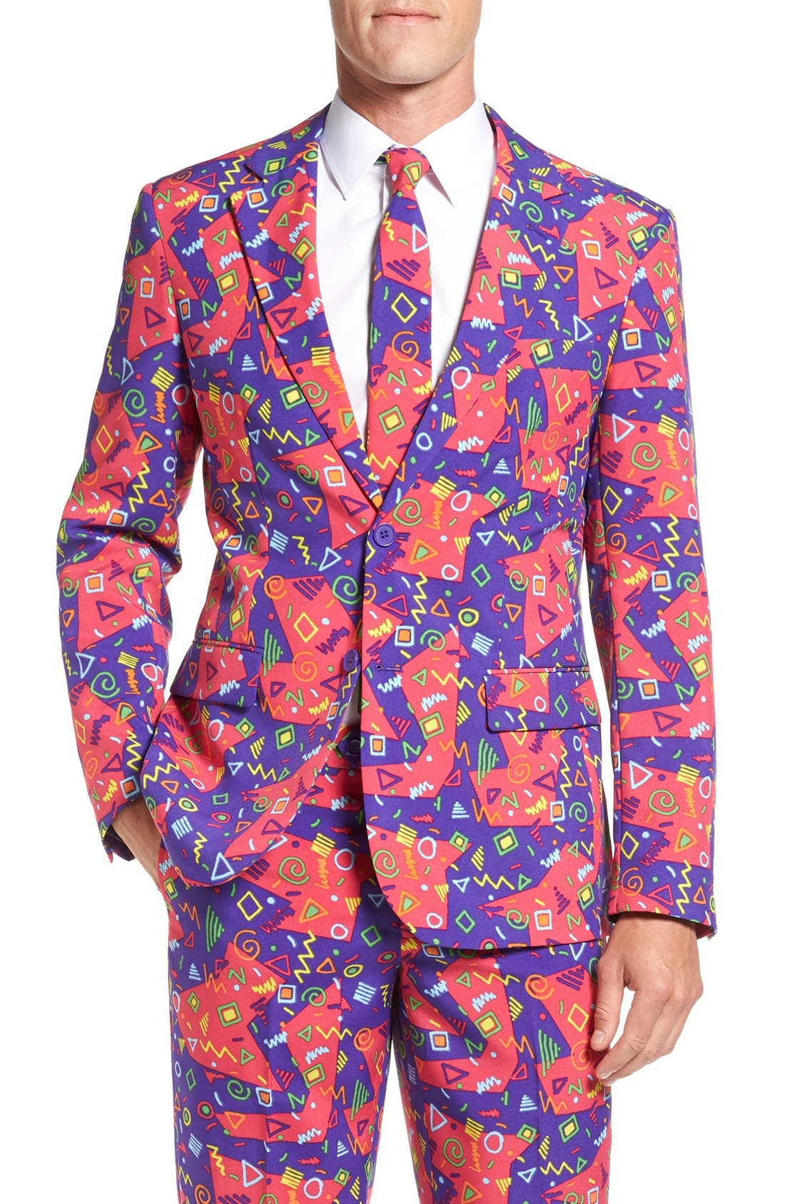 'The Fresh Prince' Trim Fit Two-Piece Suit with Tie,                             Alternate thumbnail 6, color,