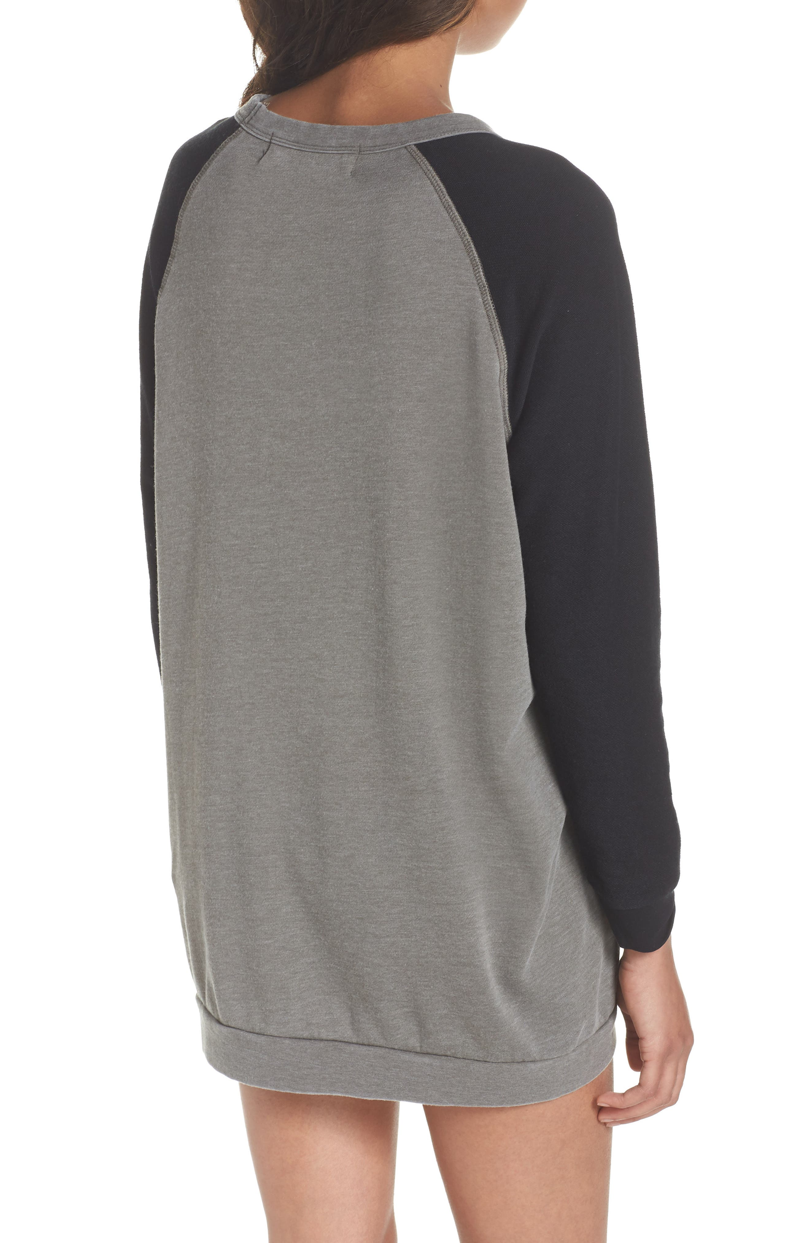 Lounge Sweatshirt Dress,                             Alternate thumbnail 2, color,                             001
