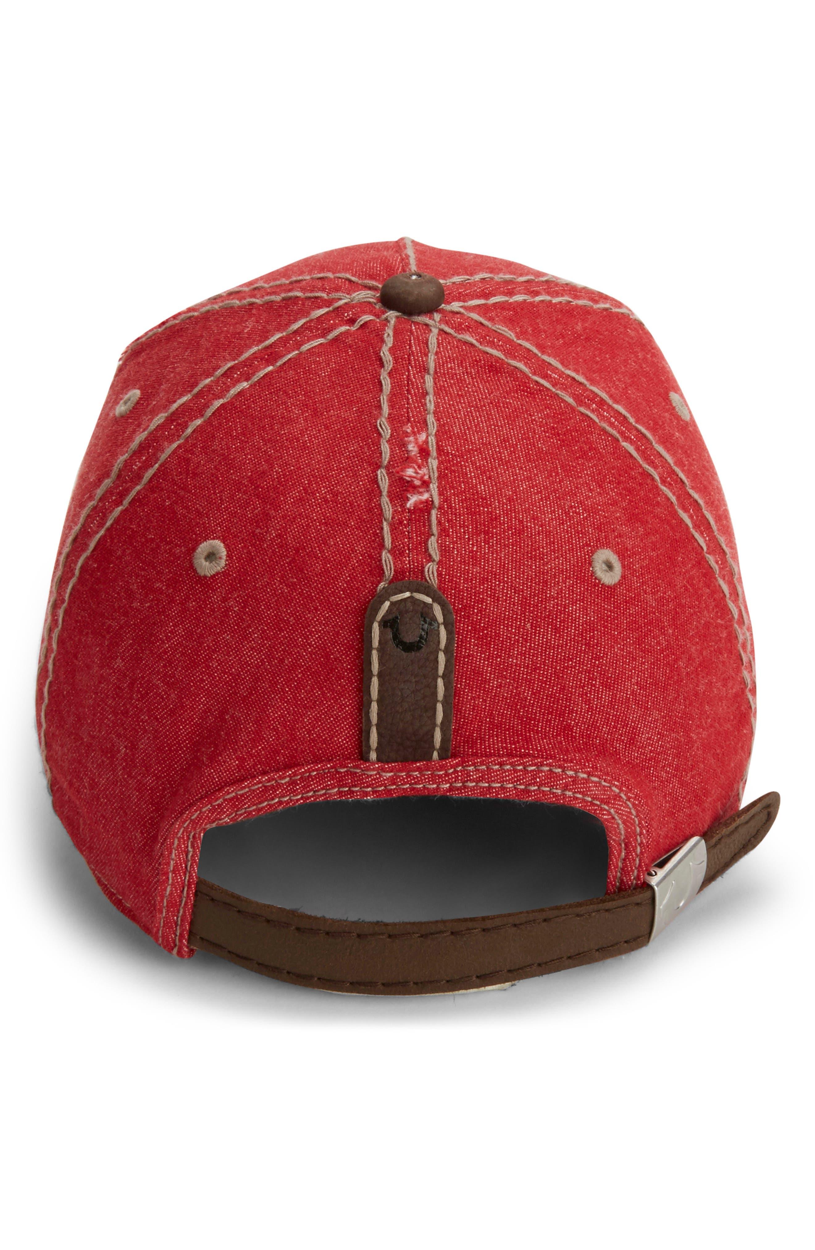 Denim Baseball Cap,                             Alternate thumbnail 4, color,