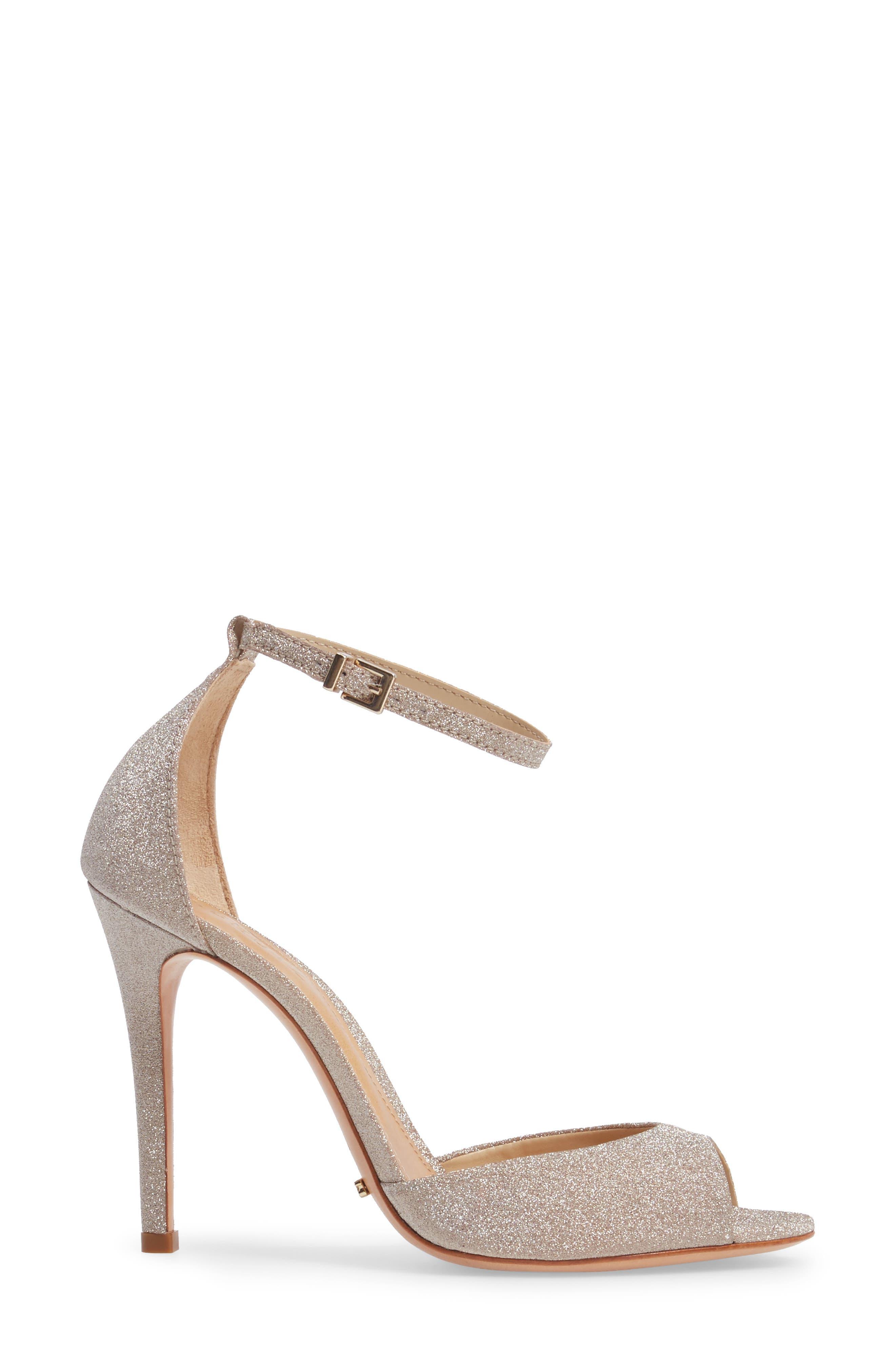 Saasha Lee Ankle Strap Sandal,                             Alternate thumbnail 3, color,                             040
