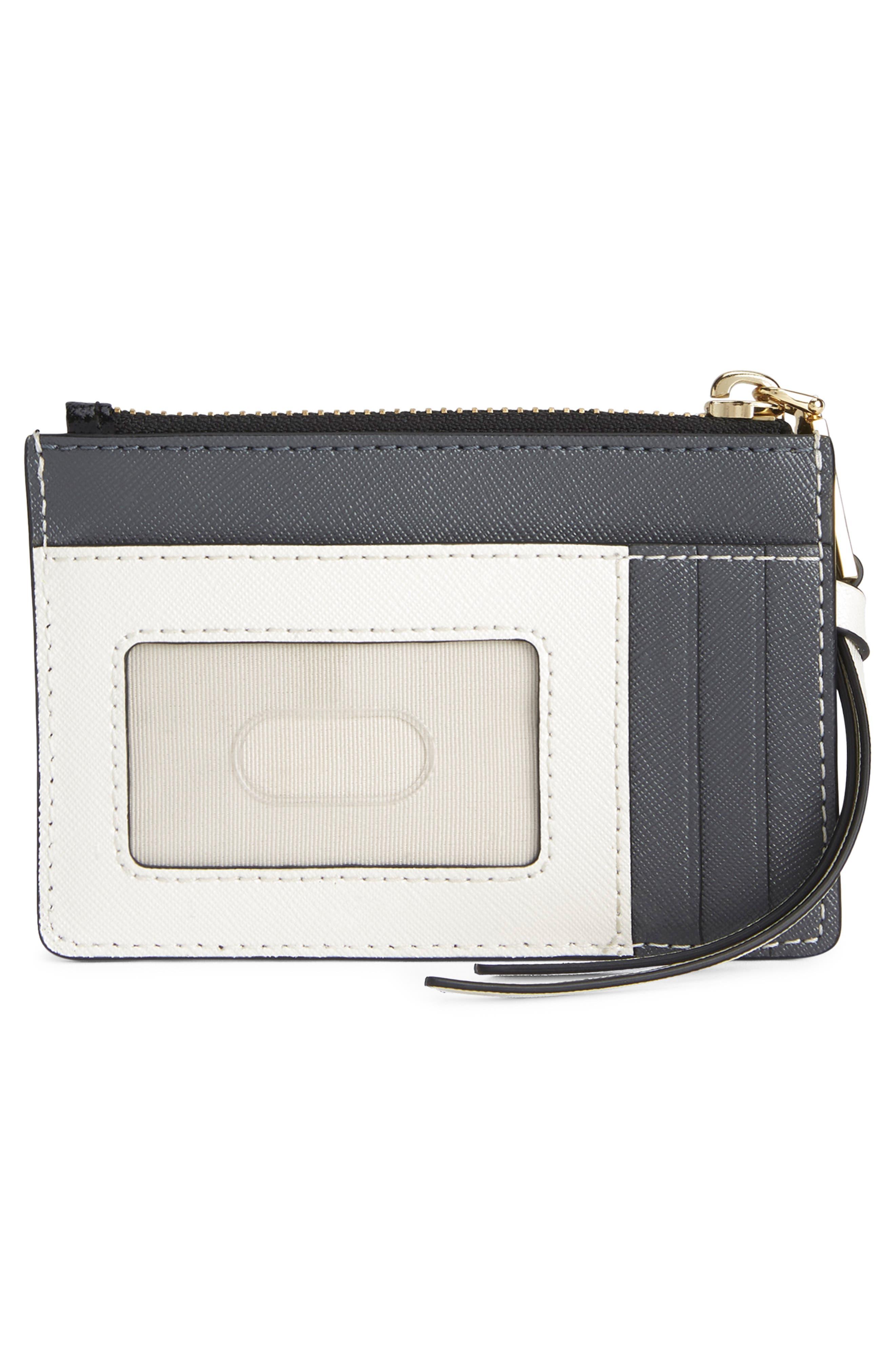 Snapshot Small Leather Wallet,                             Alternate thumbnail 4, color,                             BLACK MULTI