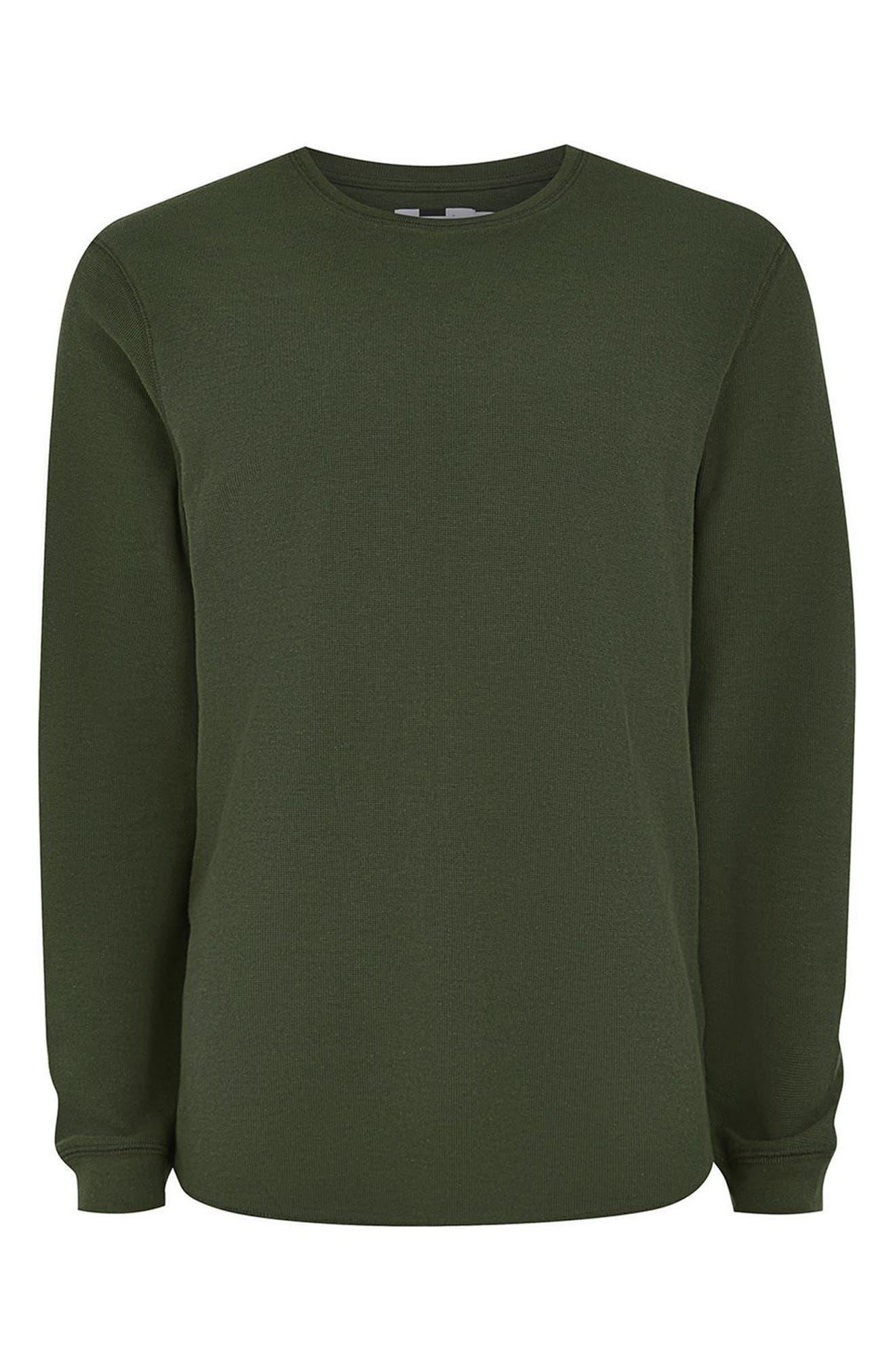 Waffle Knit Long Sleeve T-Shirt,                             Alternate thumbnail 17, color,