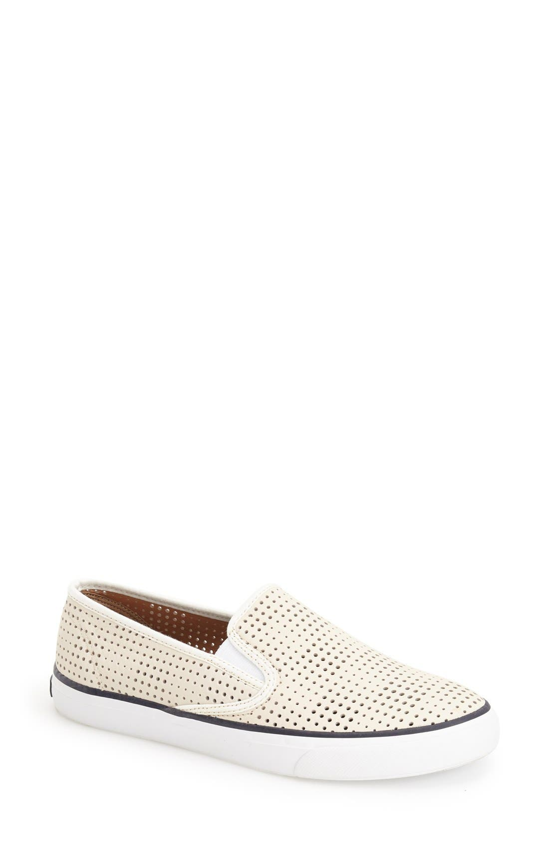 'Seaside' Perforated Slip-On Sneaker,                             Main thumbnail 6, color,
