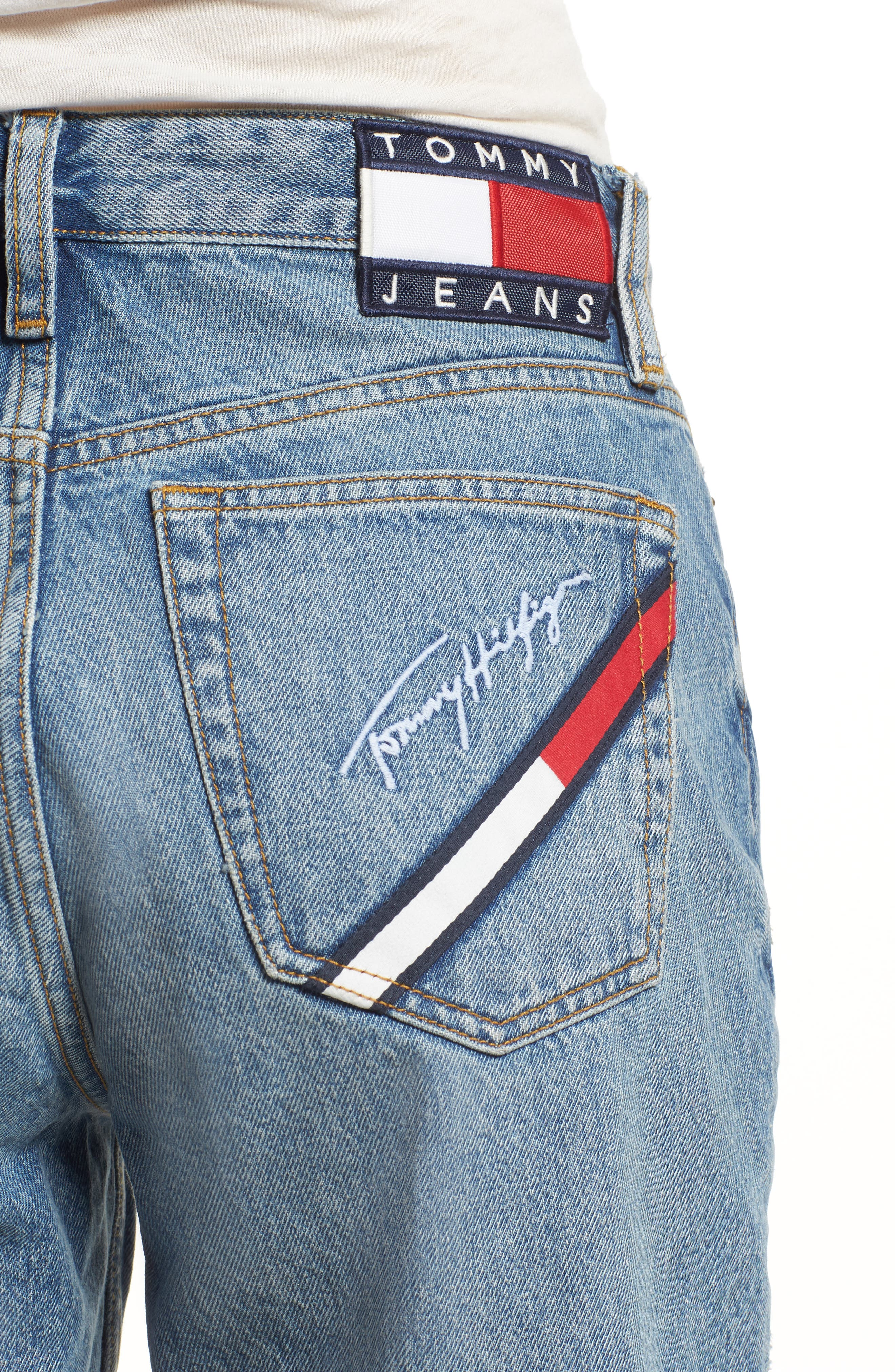 TOMMY JEANS,                             TJW 90s Mom Jeans,                             Alternate thumbnail 4, color,                             401