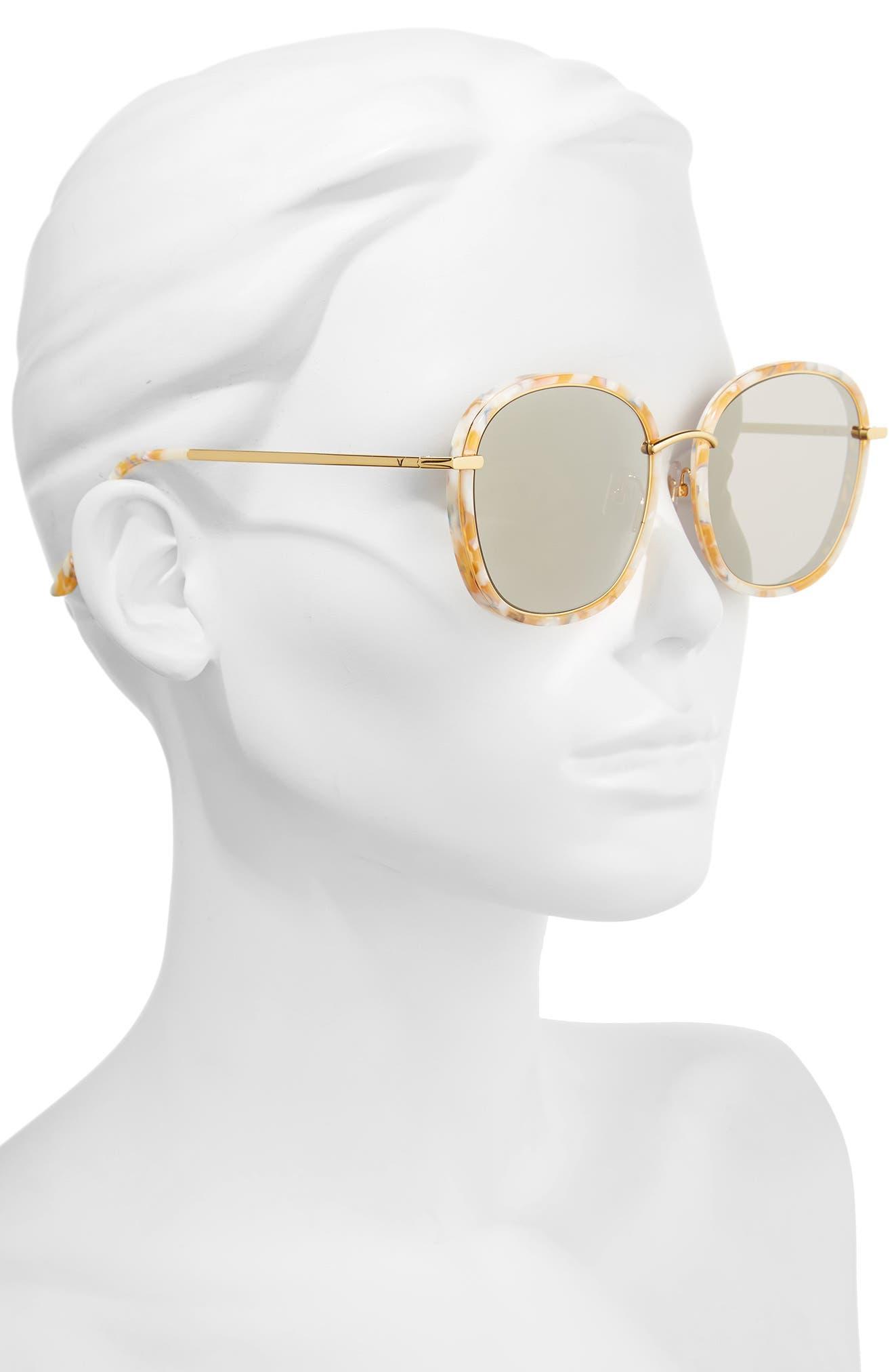 Mad Crush 57mm Round Sunglasses,                             Alternate thumbnail 2, color,                             800