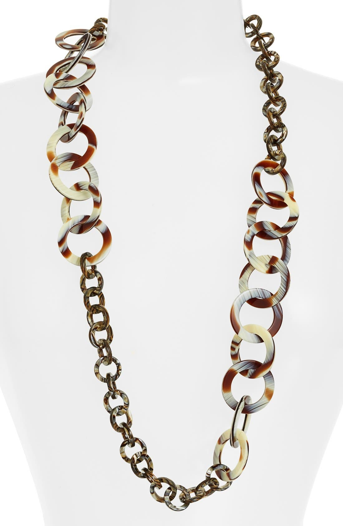 'Madison' Link Station Necklace,                             Main thumbnail 4, color,