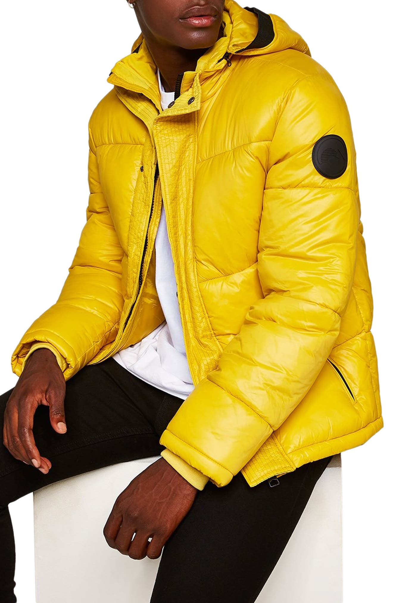Capi Classic Fit Puffer Jacket,                             Alternate thumbnail 3, color,                             YELLOW