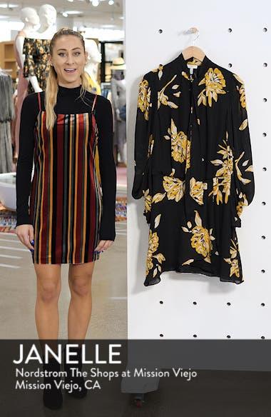 Gyan Floral Silk Dress, sales video thumbnail