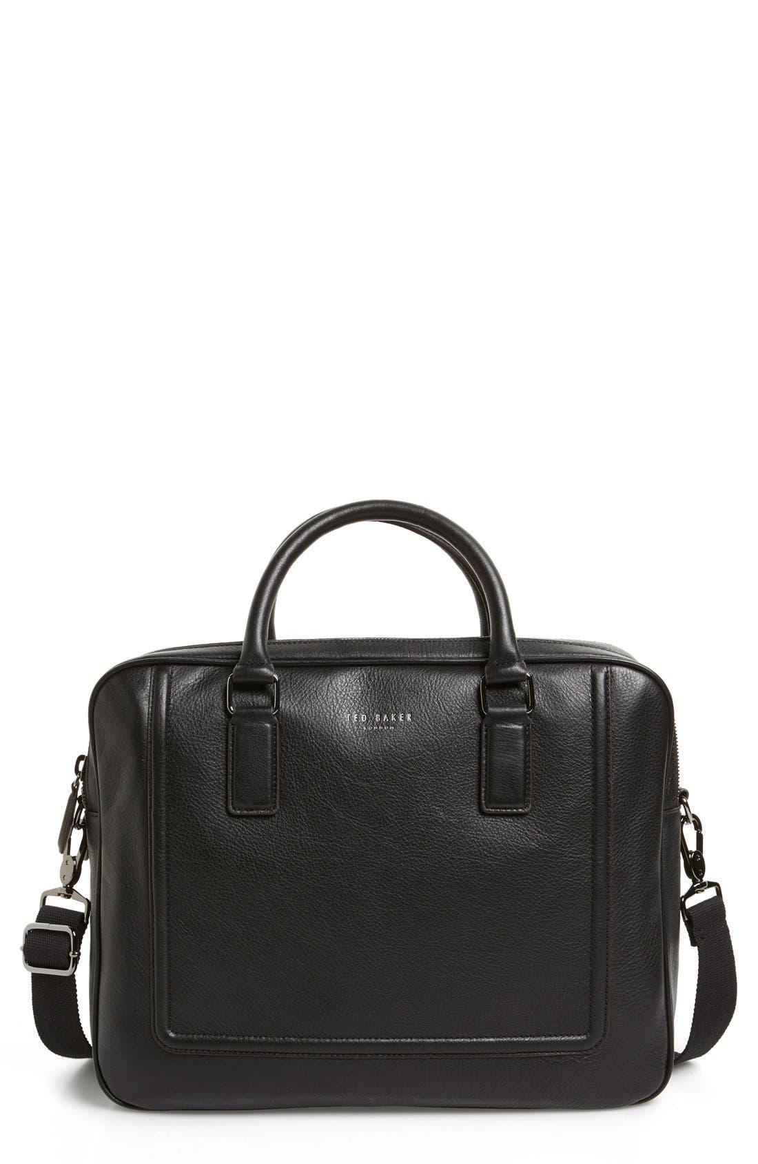 'Ragna' Leather Bowler Bag,                             Alternate thumbnail 6, color,                             001