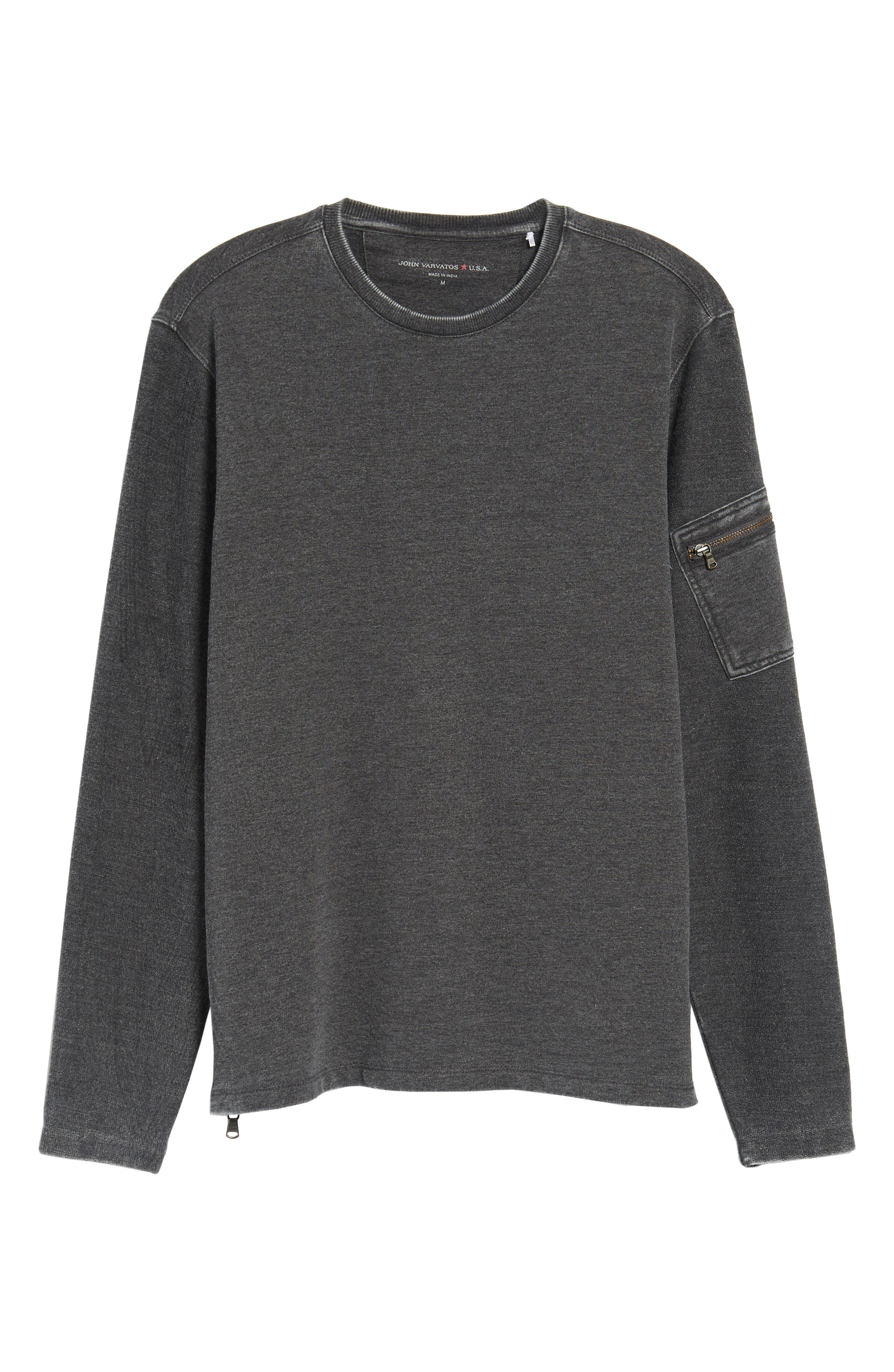 French Terry Crewneck Sweater,                             Alternate thumbnail 6, color,                             032