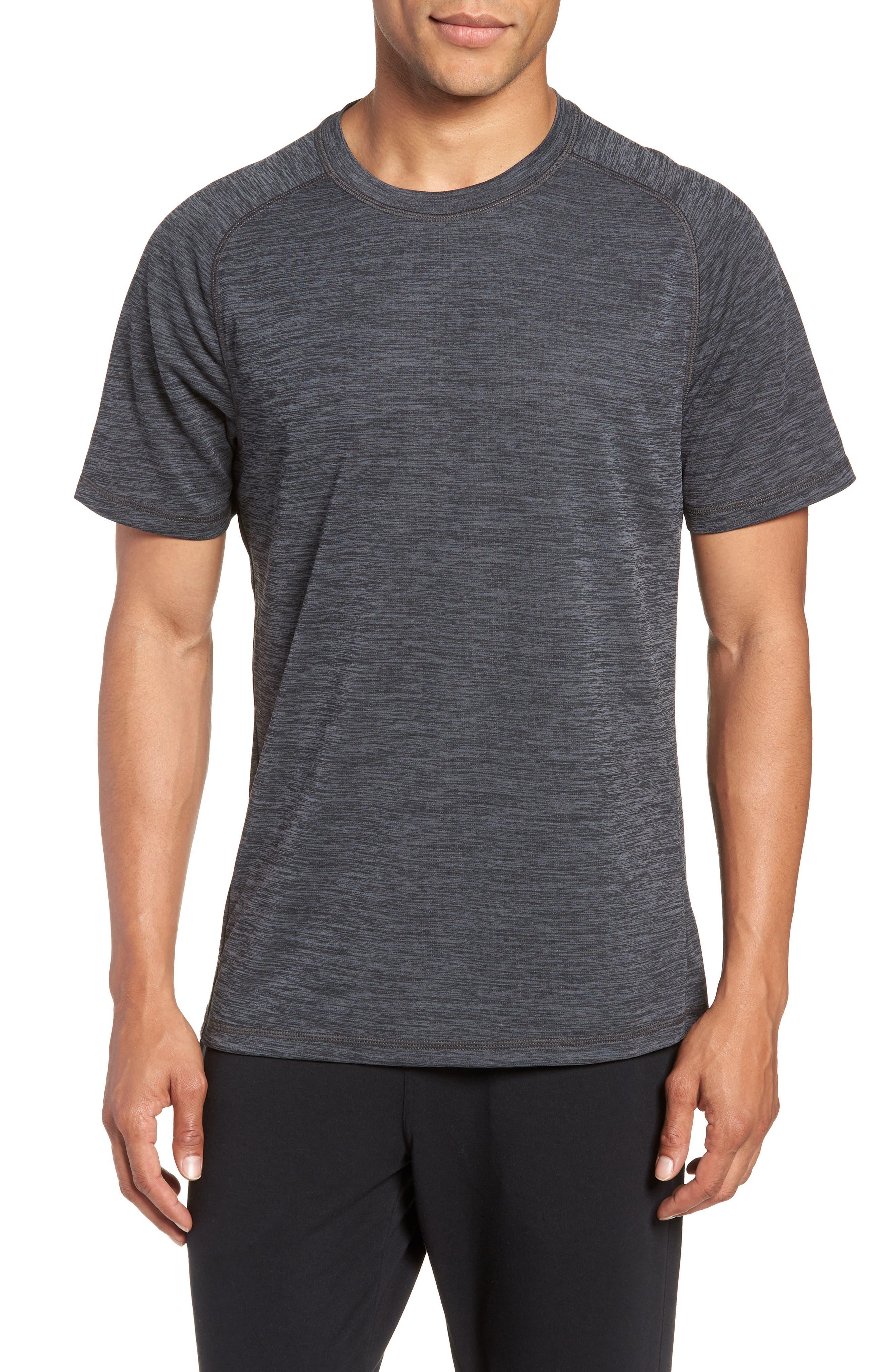 Kinoite Raglan Crewneck T-Shirt,                         Main,                         color, GREY OBSIDIAN MELANGE