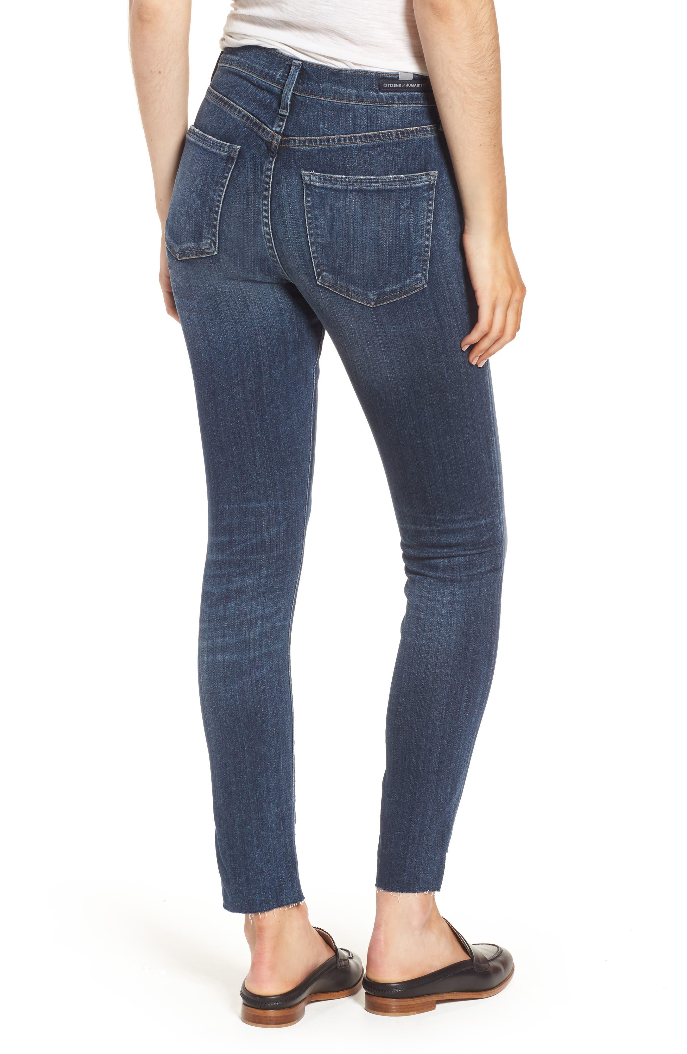 Rocket Step Hem Skinny Jeans,                             Alternate thumbnail 2, color,                             401