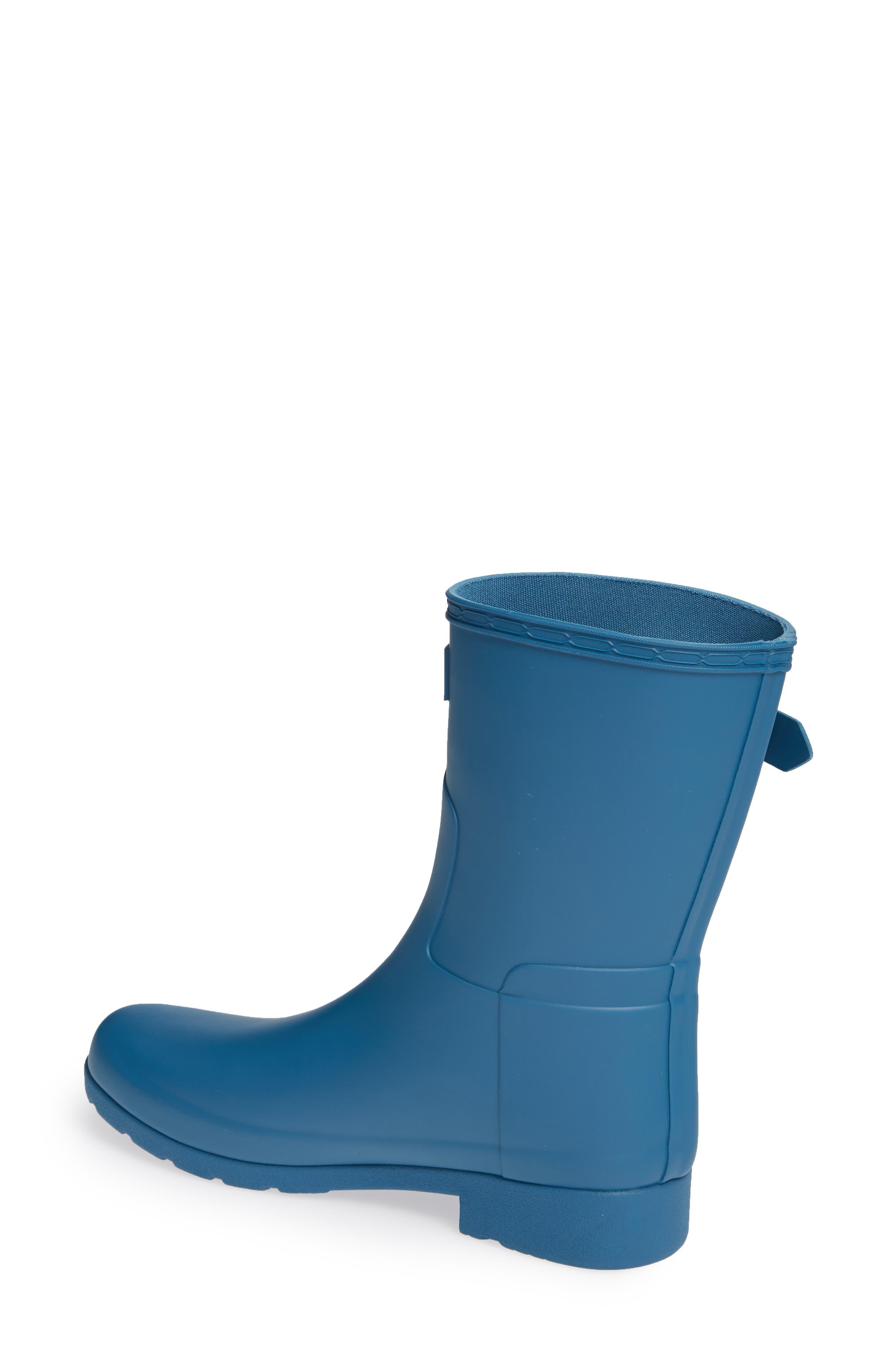 HUNTER,                             Original Refined Short Waterproof Rain Boot,                             Alternate thumbnail 2, color,                             440