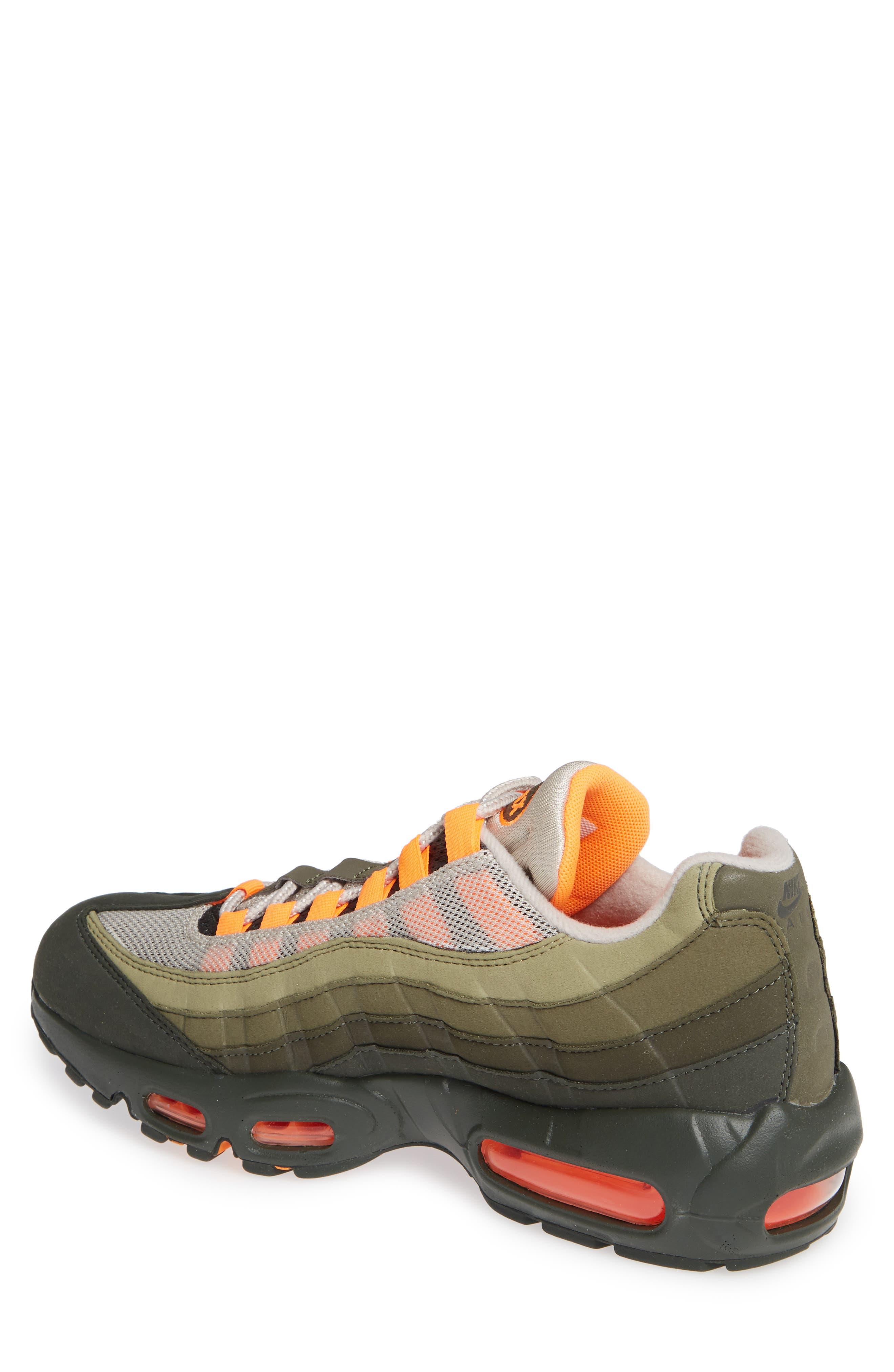 Air Max 95 OG Sneaker,                             Alternate thumbnail 2, color,                             STRING/ TOTAL ORANGE-NEUTRAL