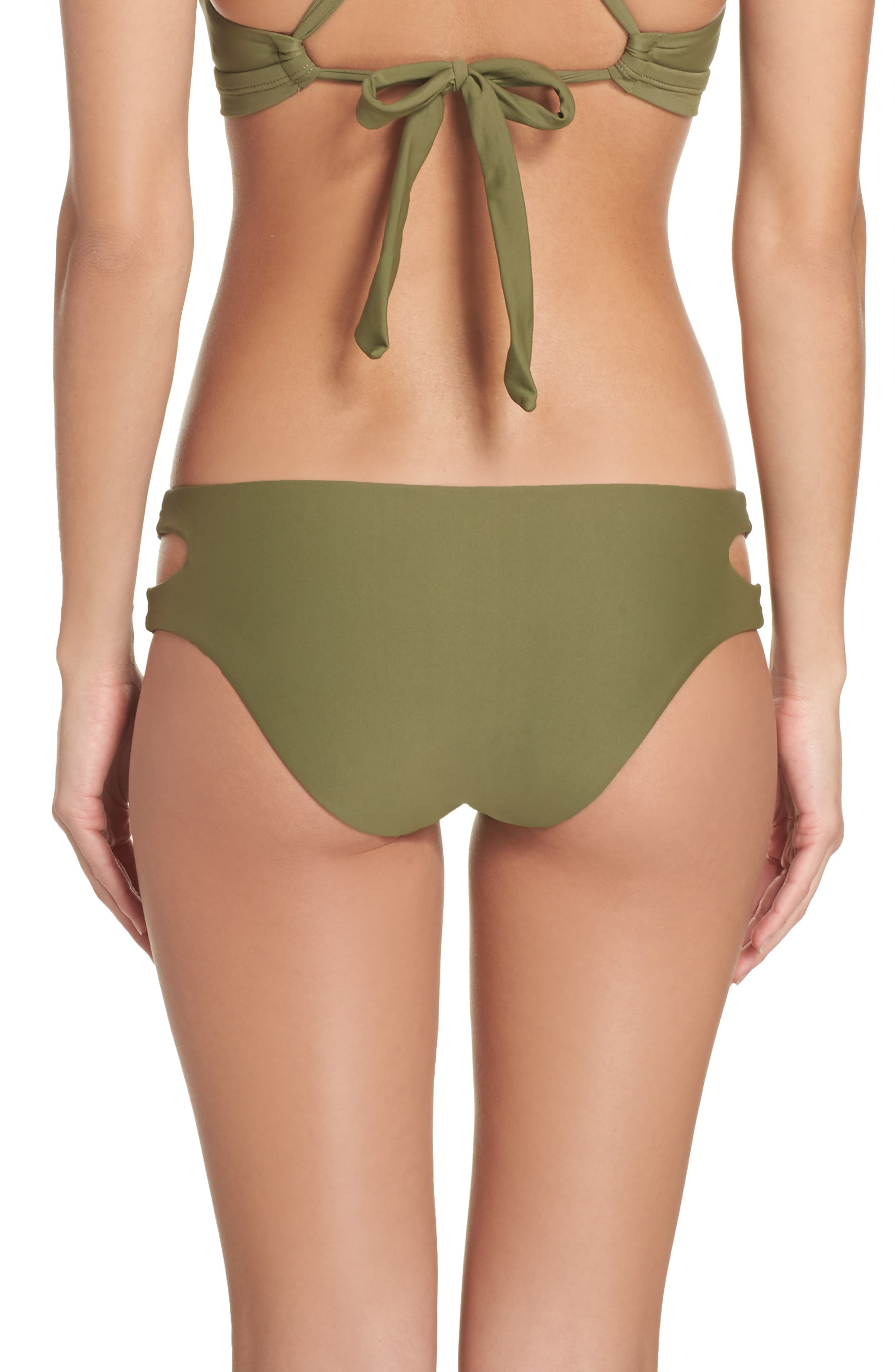 Cutout Hipster Bikini Bottoms,                             Alternate thumbnail 3, color,