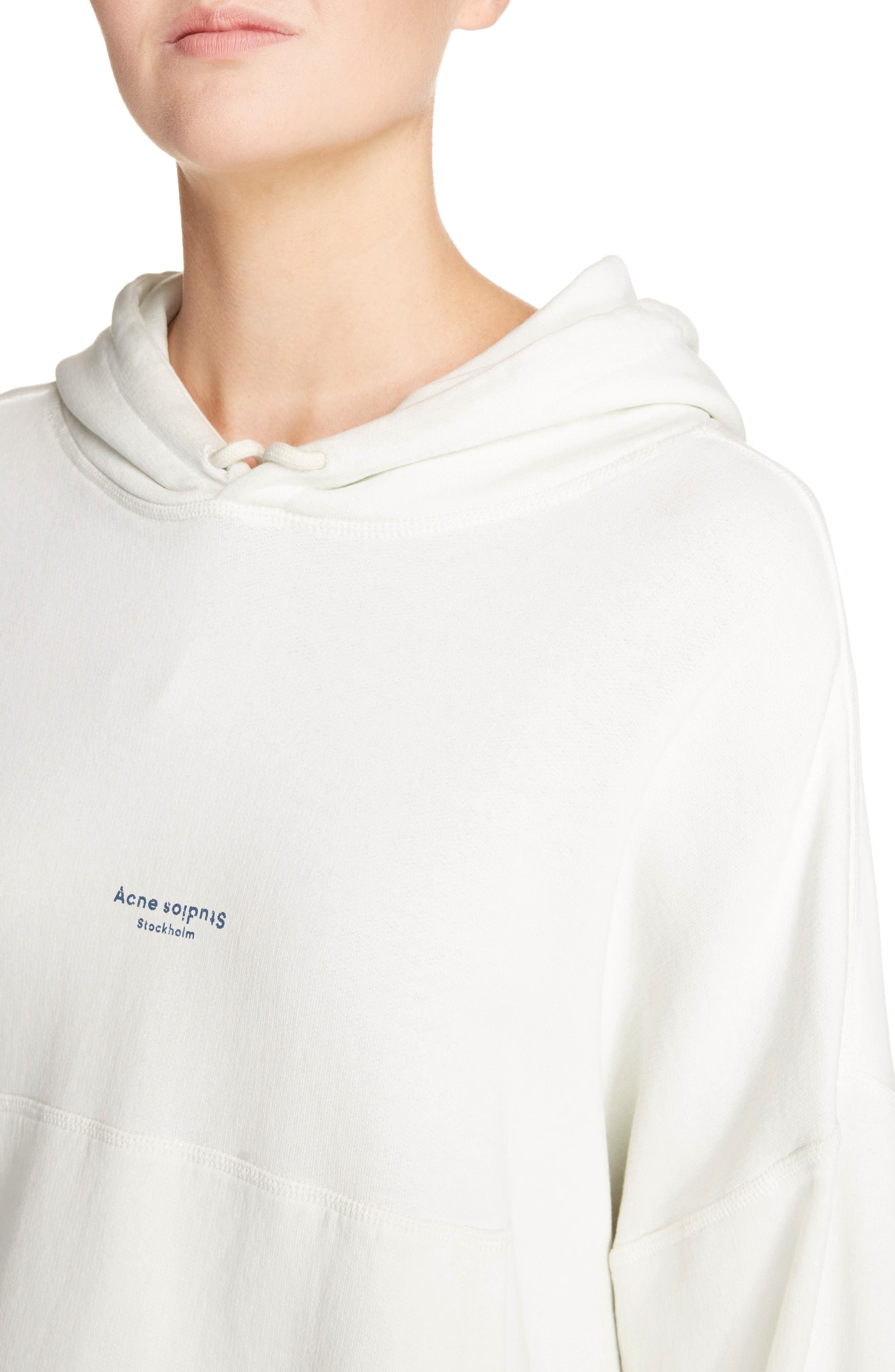 Joggy Crop Hoodie,                             Alternate thumbnail 4, color,                             ICE WHITE