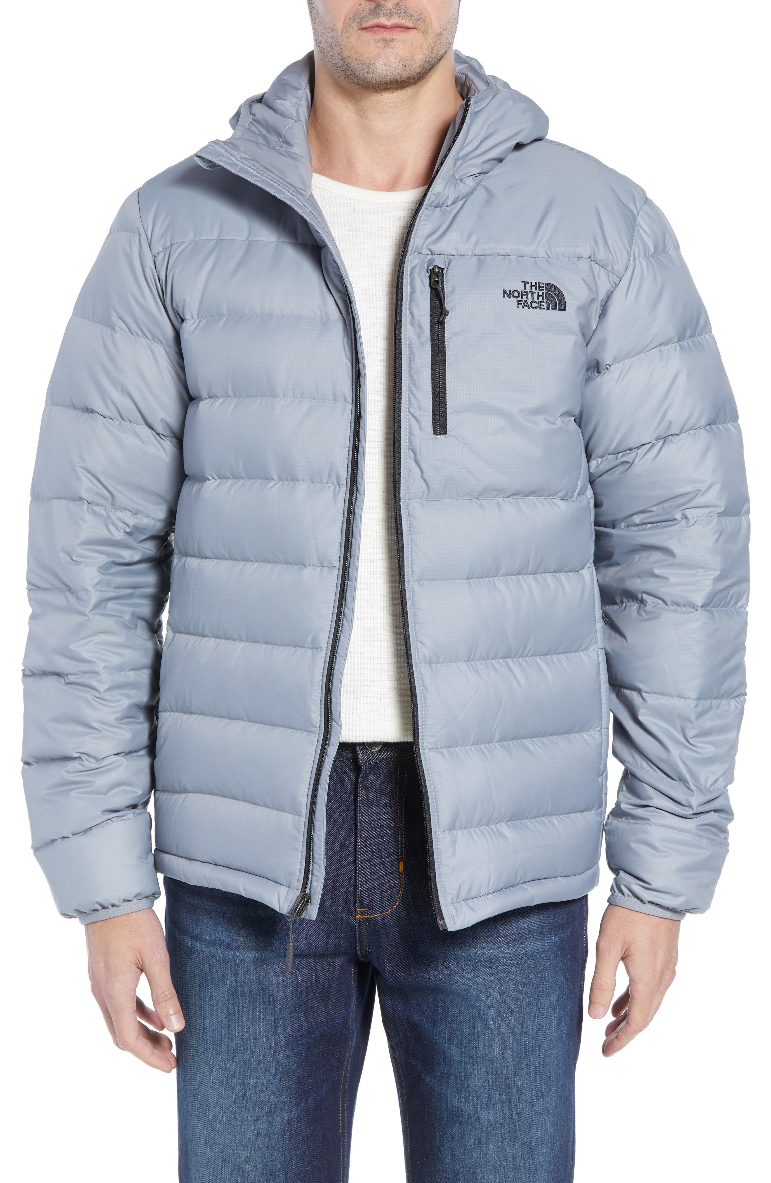 Aconcagua Down Hooded Jacket,                         Main,                         color, MID GREY