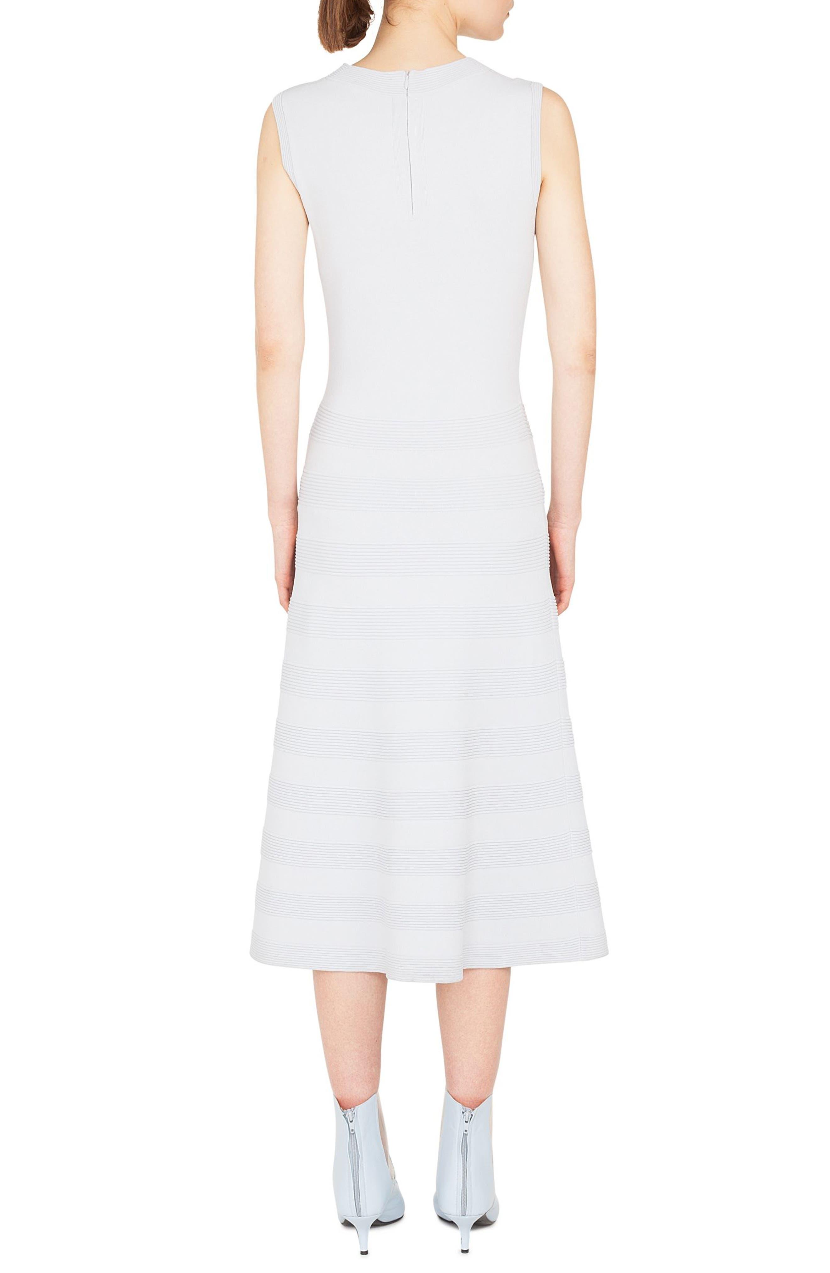 Rib Stripe Midi Dress,                             Alternate thumbnail 2, color,                             081