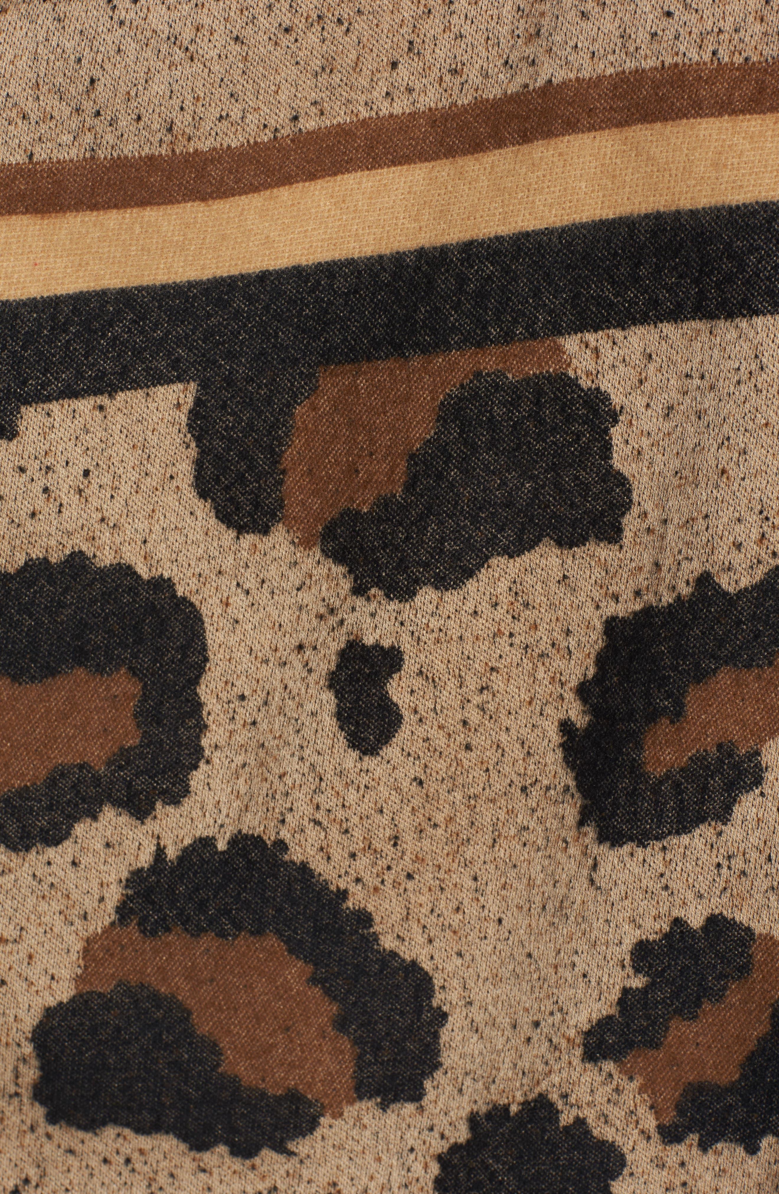 BP Leopard Print Ruana,                             Alternate thumbnail 5, color,                             200