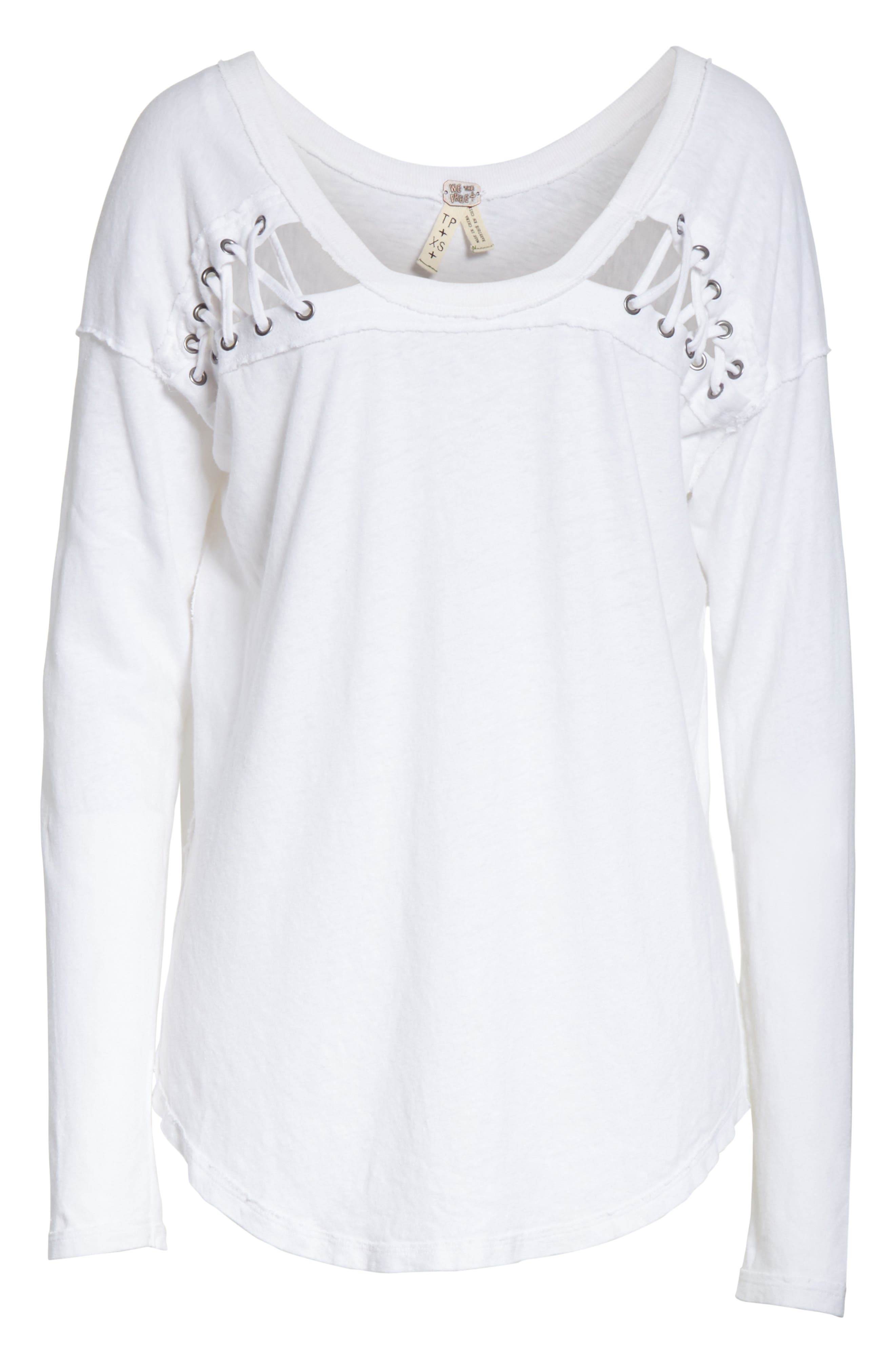 First Love Lace-Up Tee,                             Alternate thumbnail 27, color,