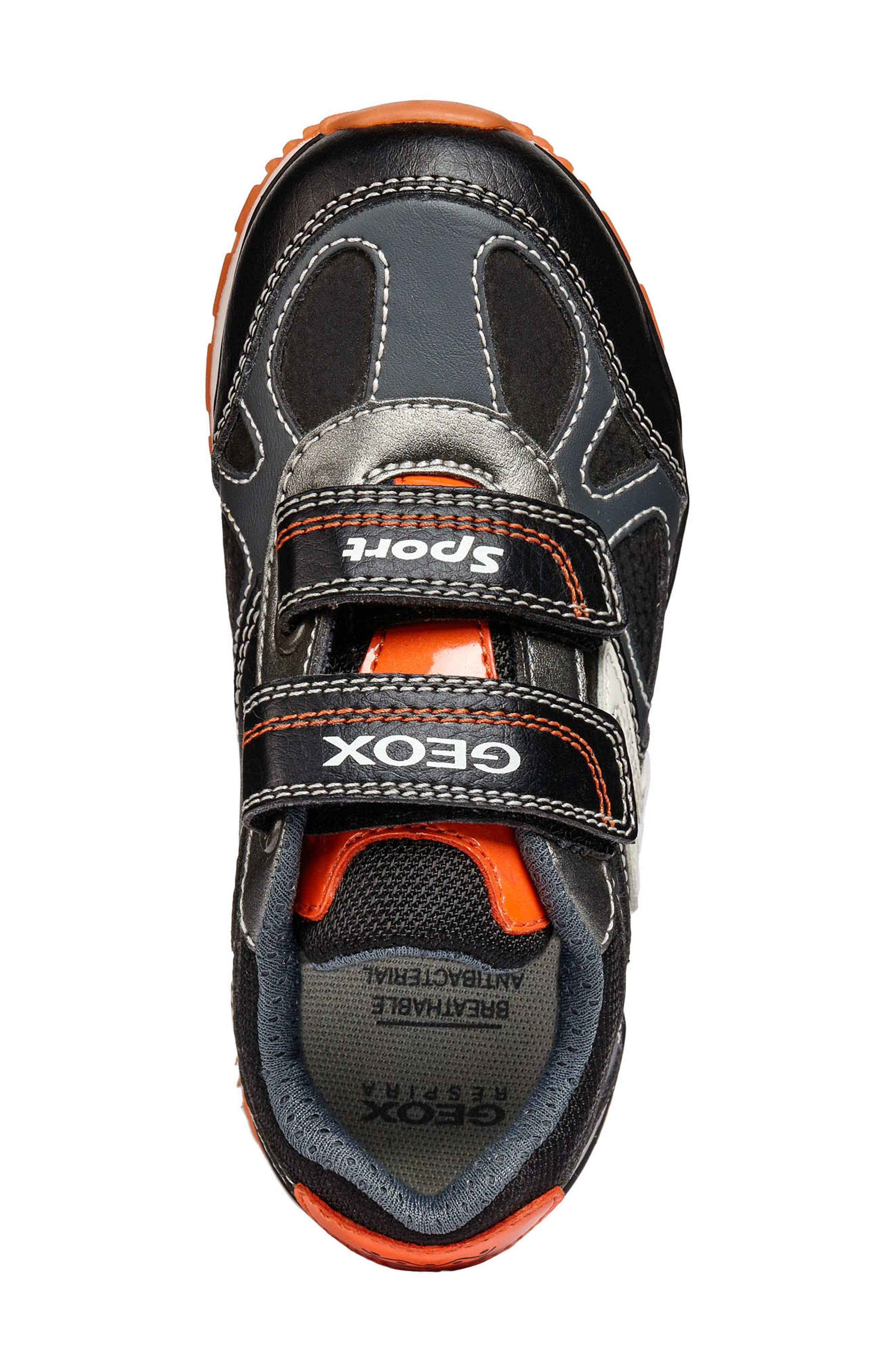 Pavel Sneaker,                             Alternate thumbnail 4, color,                             DARK GREY/ORANGE