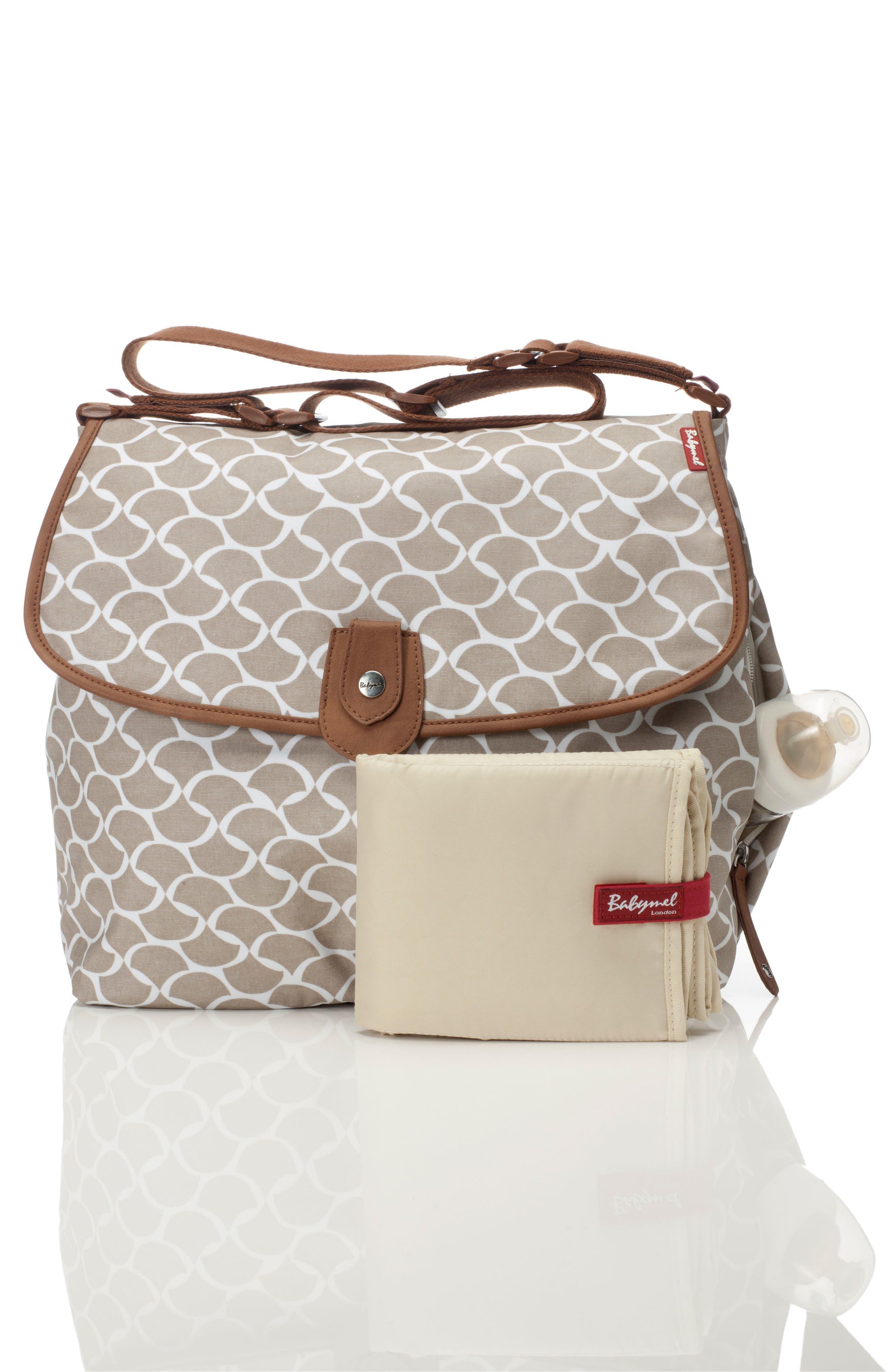 Satchel Wave Fawn Diaper Bag,                             Alternate thumbnail 4, color,