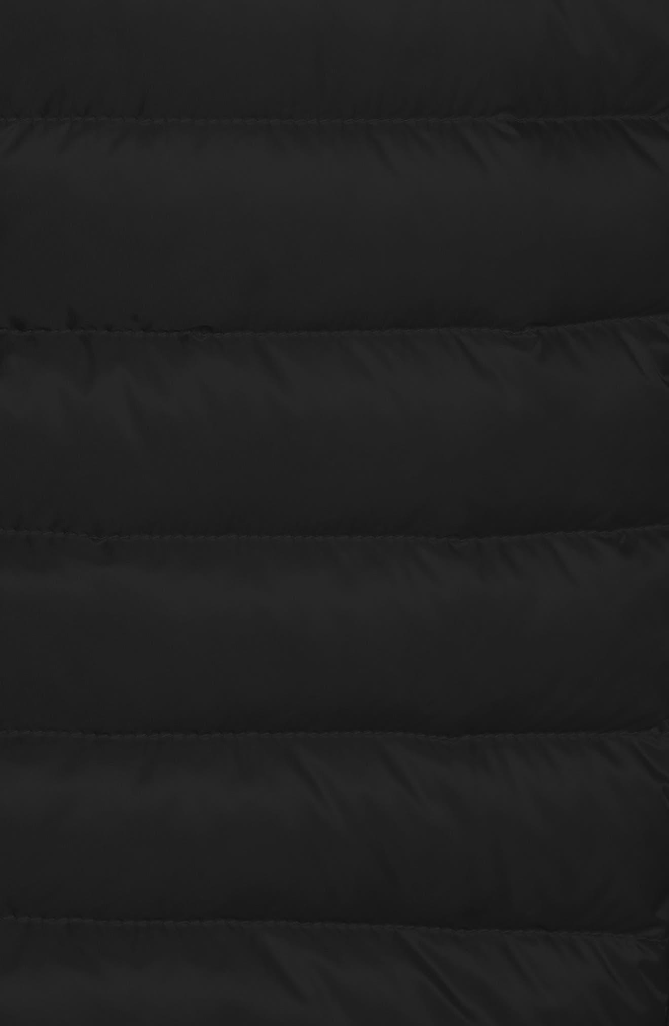 MONCLER,                             Barbel Water Resistant Long Hooded Down Jacket,                             Alternate thumbnail 5, color,                             001