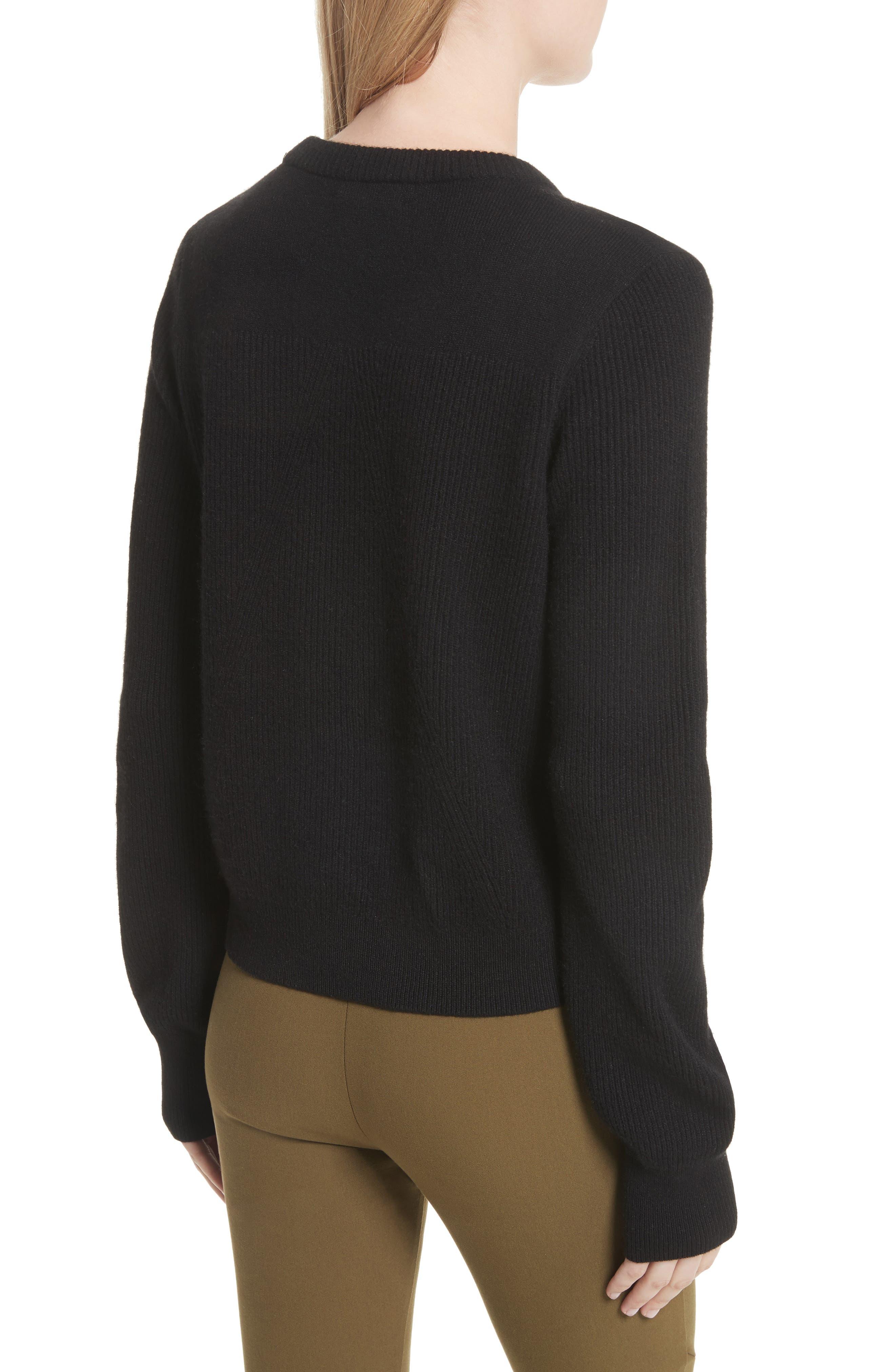 Ace Cashmere Crop Sweater,                             Alternate thumbnail 2, color,                             001