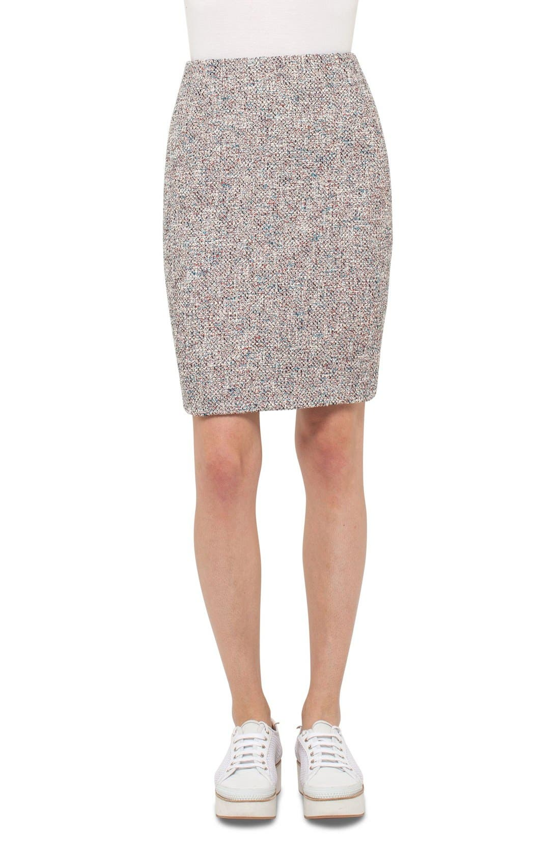 Stretch Tweed Pencil Skirt,                         Main,                         color, 900
