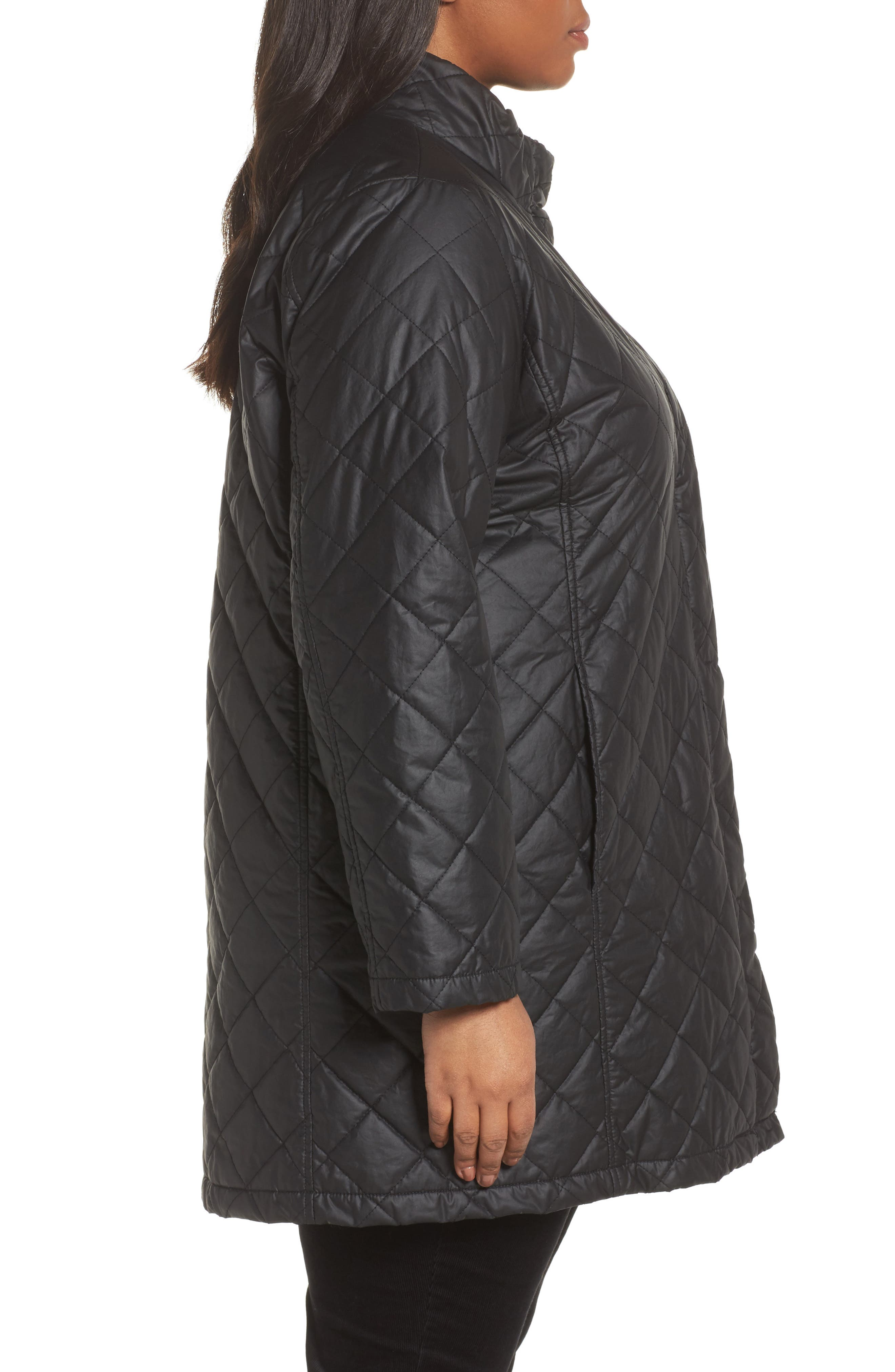 Quilted Jacket,                             Alternate thumbnail 3, color,                             001